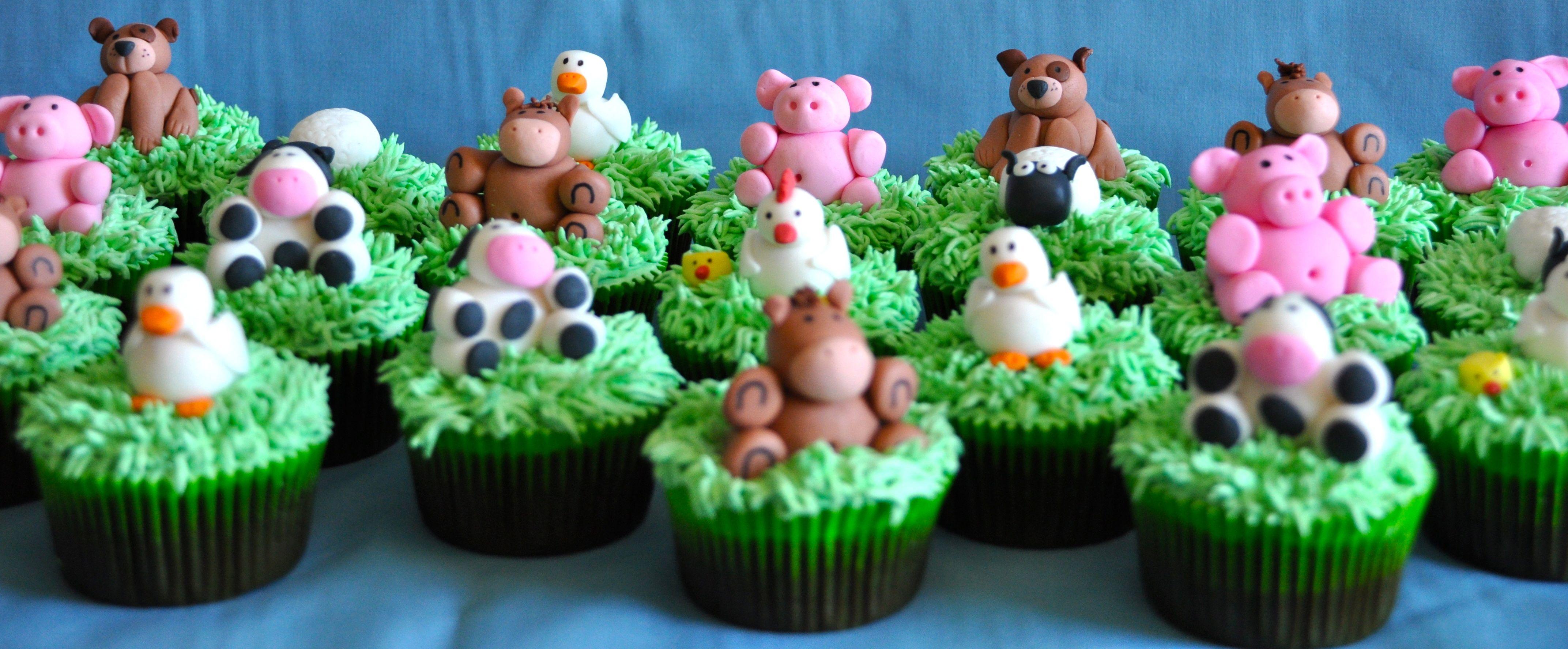 Farm animal cupcakes cupcakes for kids pinterest
