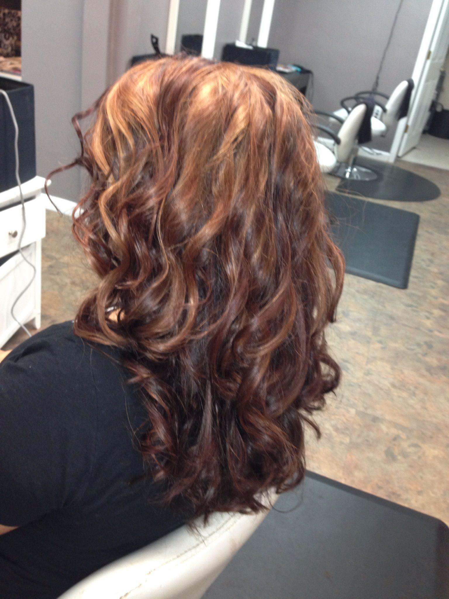 hair color copper highlight hair pinterest of hair color