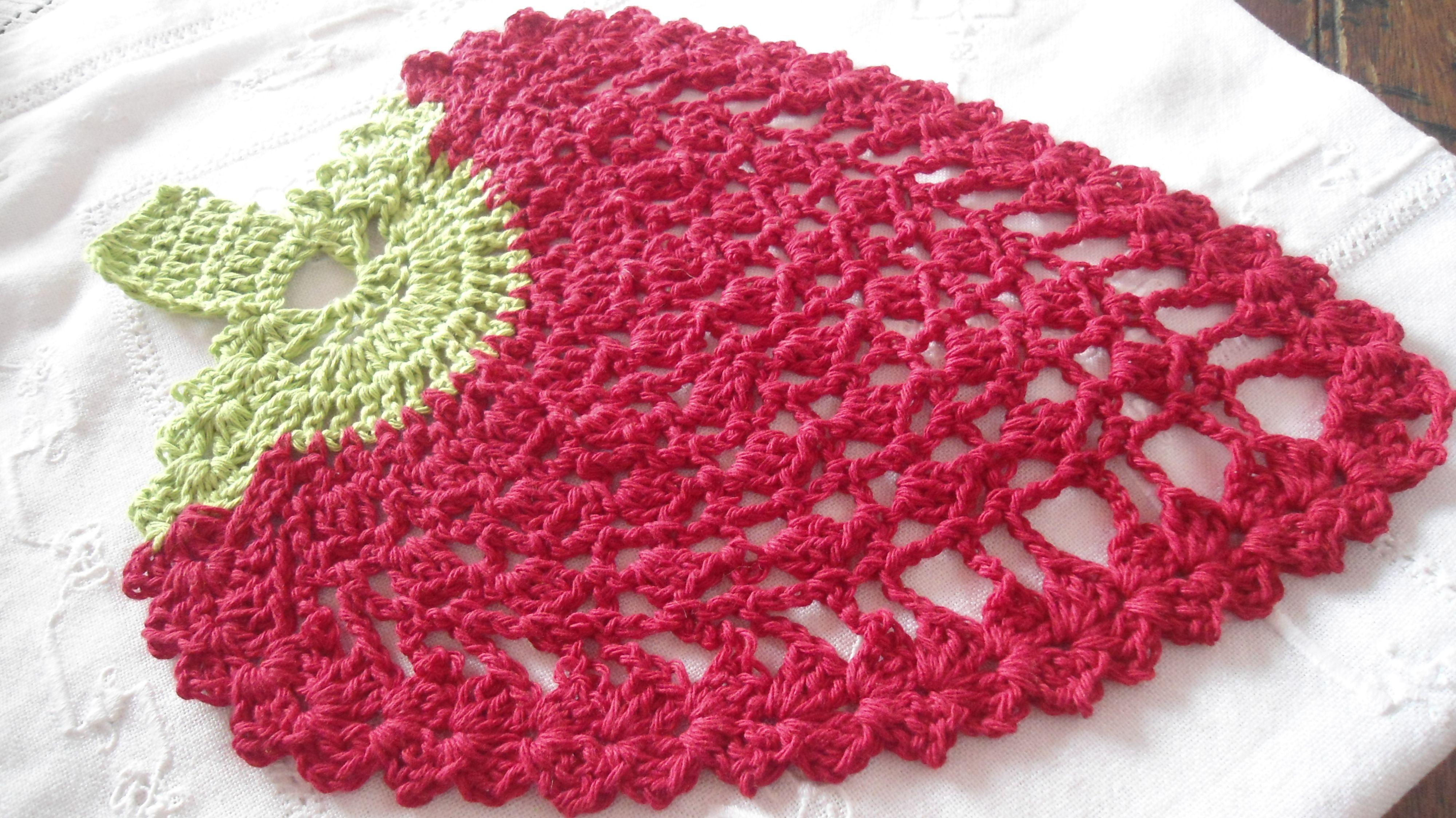 Agarraderaindividualetc Frutilla Mis Tejidos 2 Agujas Y Crochet