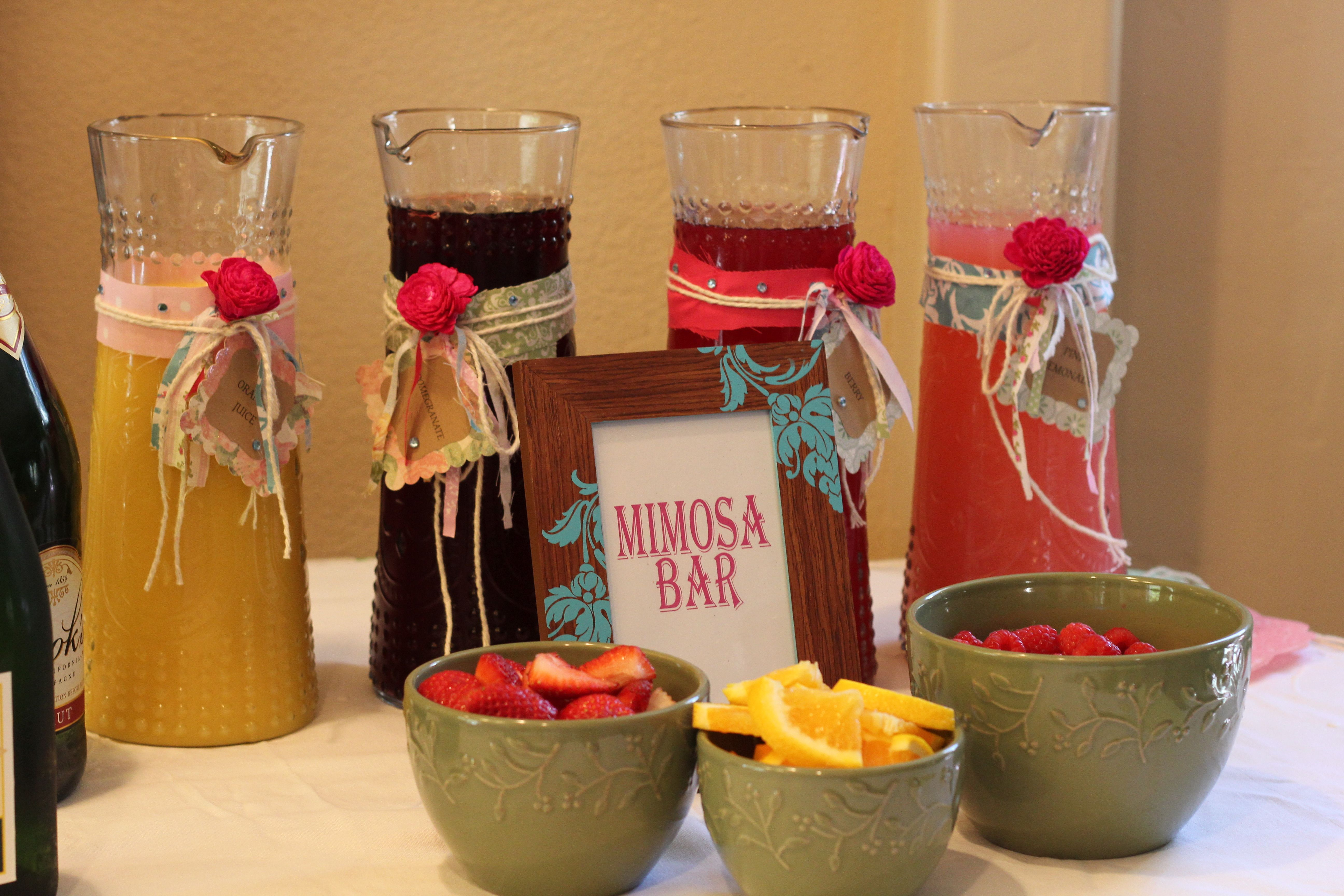 mimosa bar mimosas for everyone pinterest