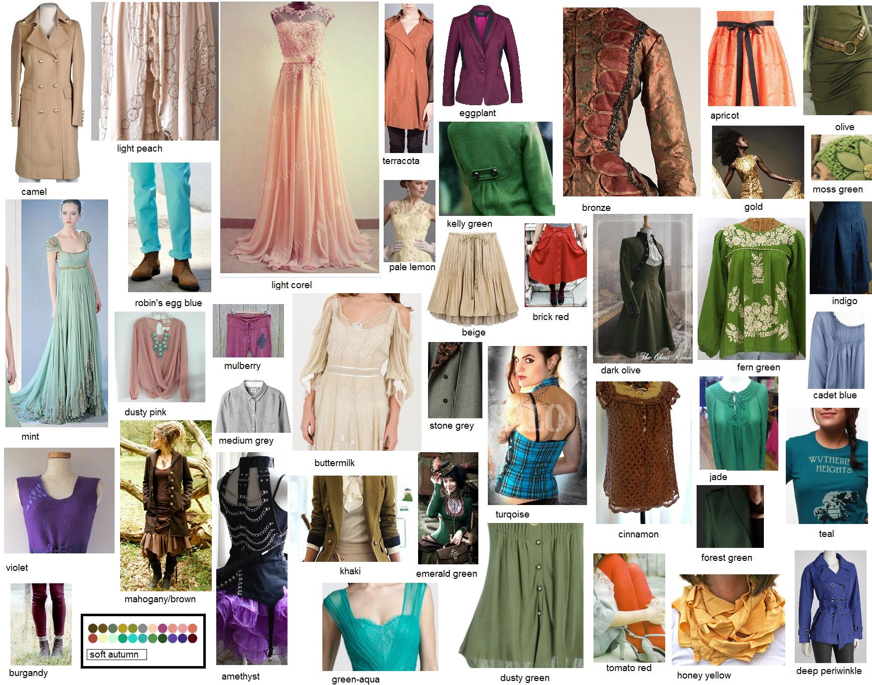 Soft Autumn Colors Fashionstuff Pinterest