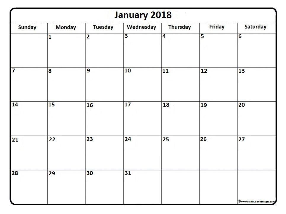 January 2018 calendar . January 2018 calendar printable | 2018 ...