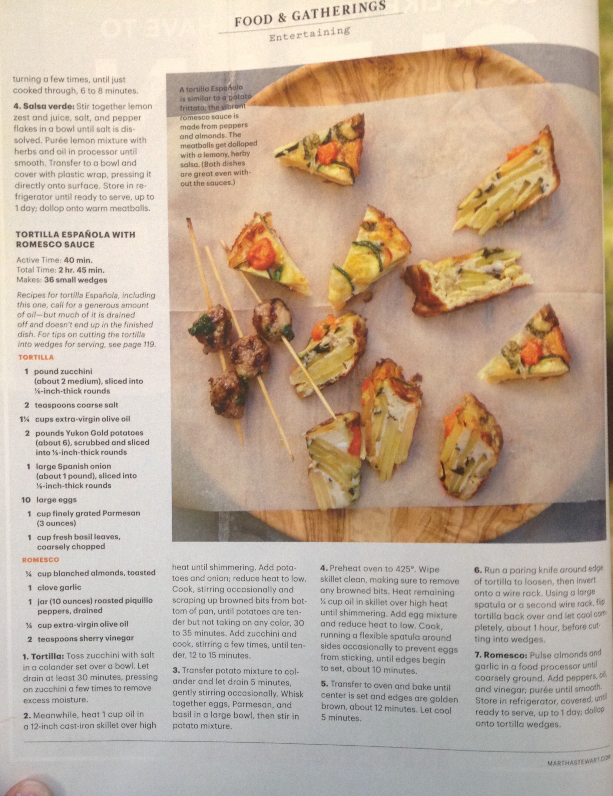 Tortilla Española with Romesco Sauce   food   Pinterest