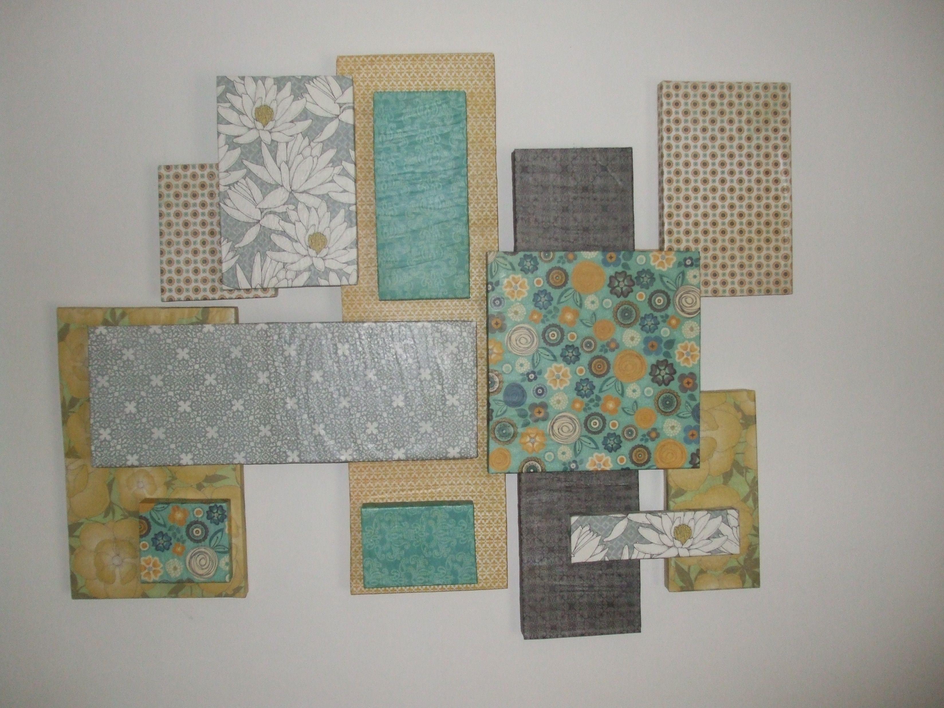 Wall Decor With Scrapbook Paper : Styrofoam and scrapbook paper wall art dorm life