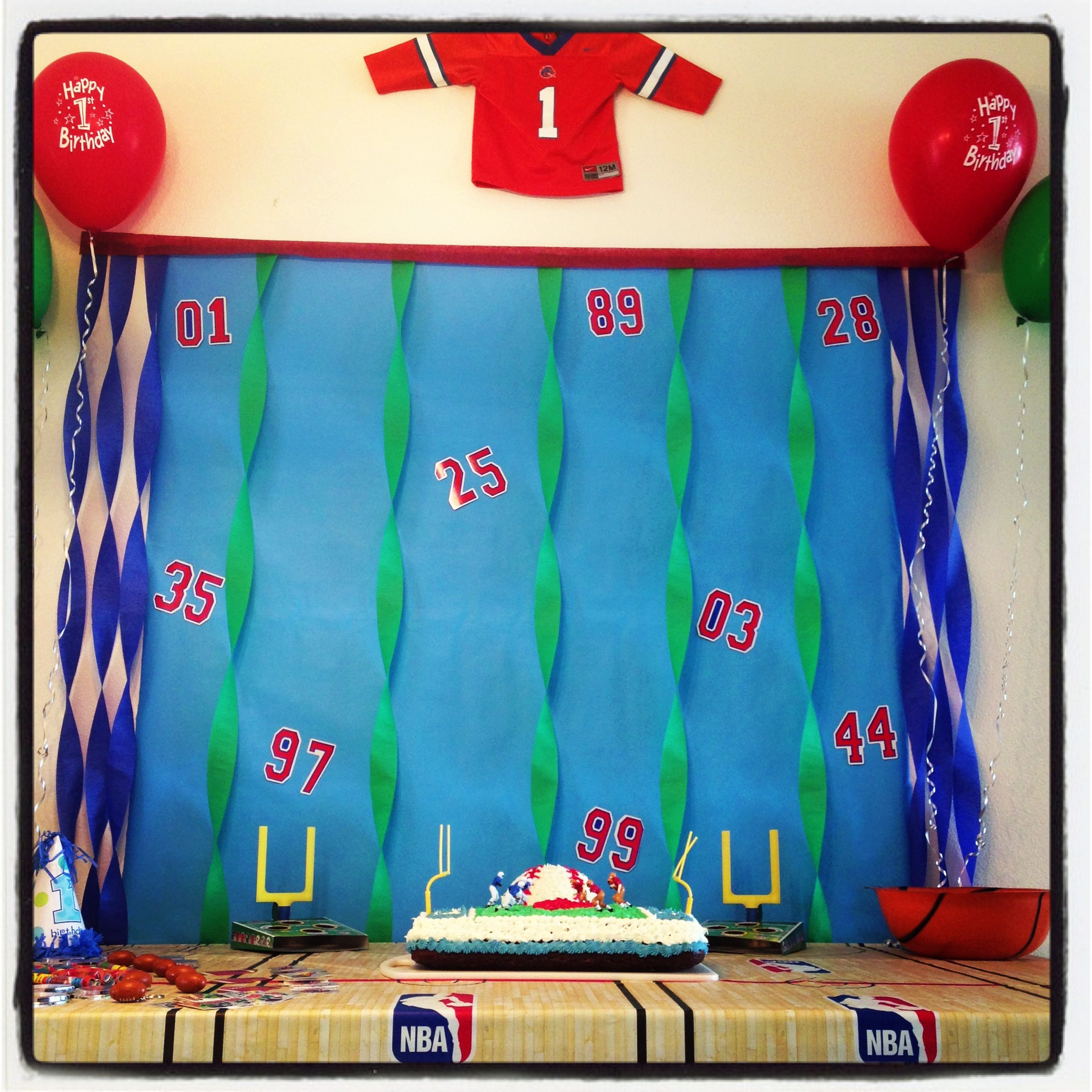 sports themed first birthday