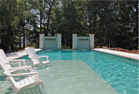 Wonderful Pool Finish Ideas For You To Copy: 1000+ Images About Wet Deck Pools On Pinterest