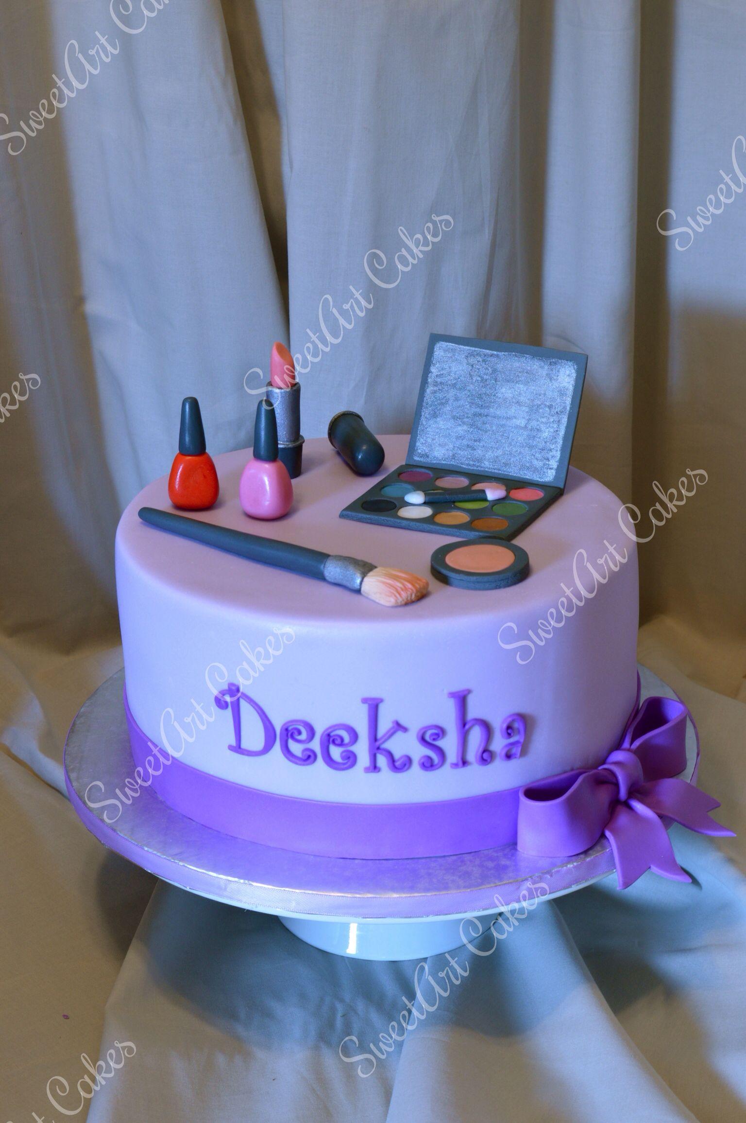 happy birthday makeup cake on makeup birthday cakes
