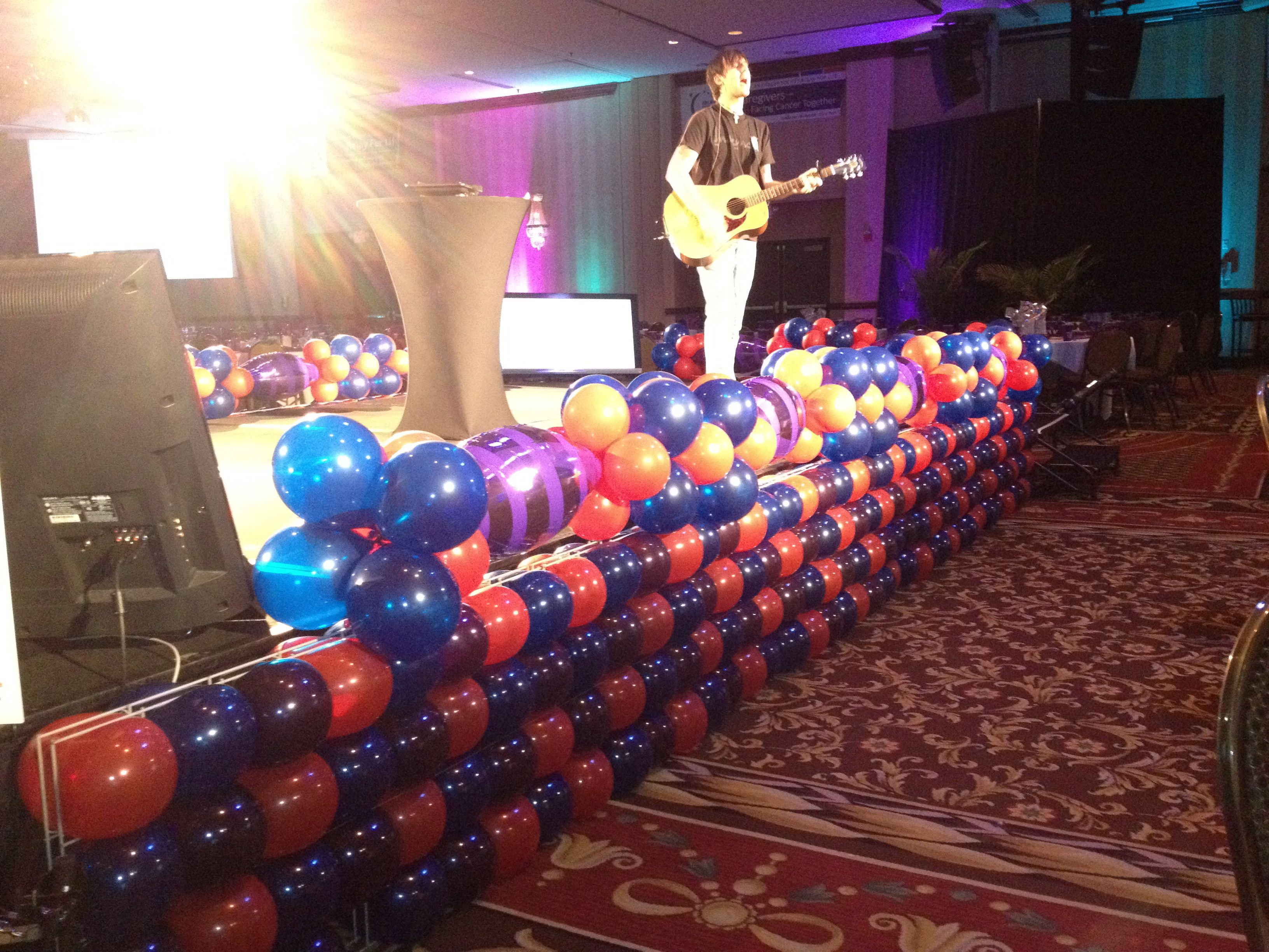 balloon stage decor relay for life pinterest