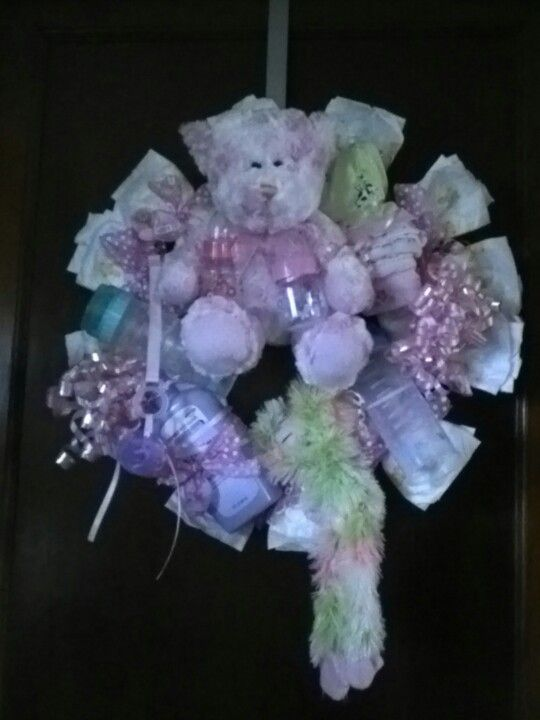 baby shower diaper wreath party ideas pinterest