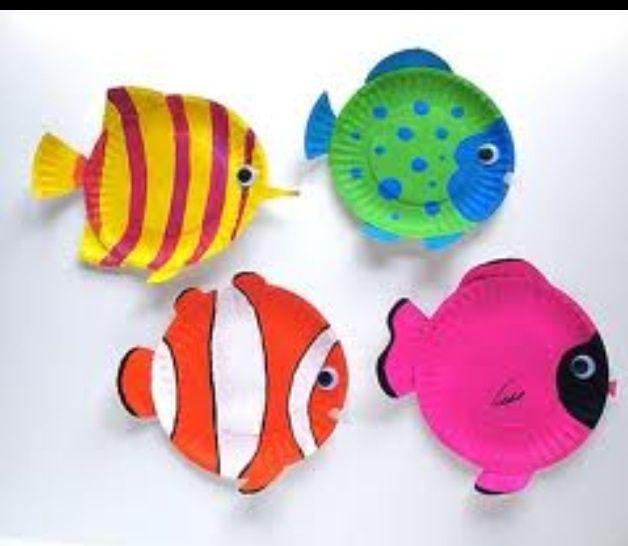 Paper plate fish | Craft ideas | Pinterest