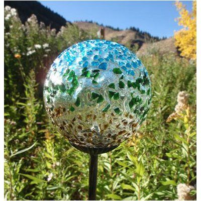 Recycled glass garden art pinterest - Recycled glass for gardens ...