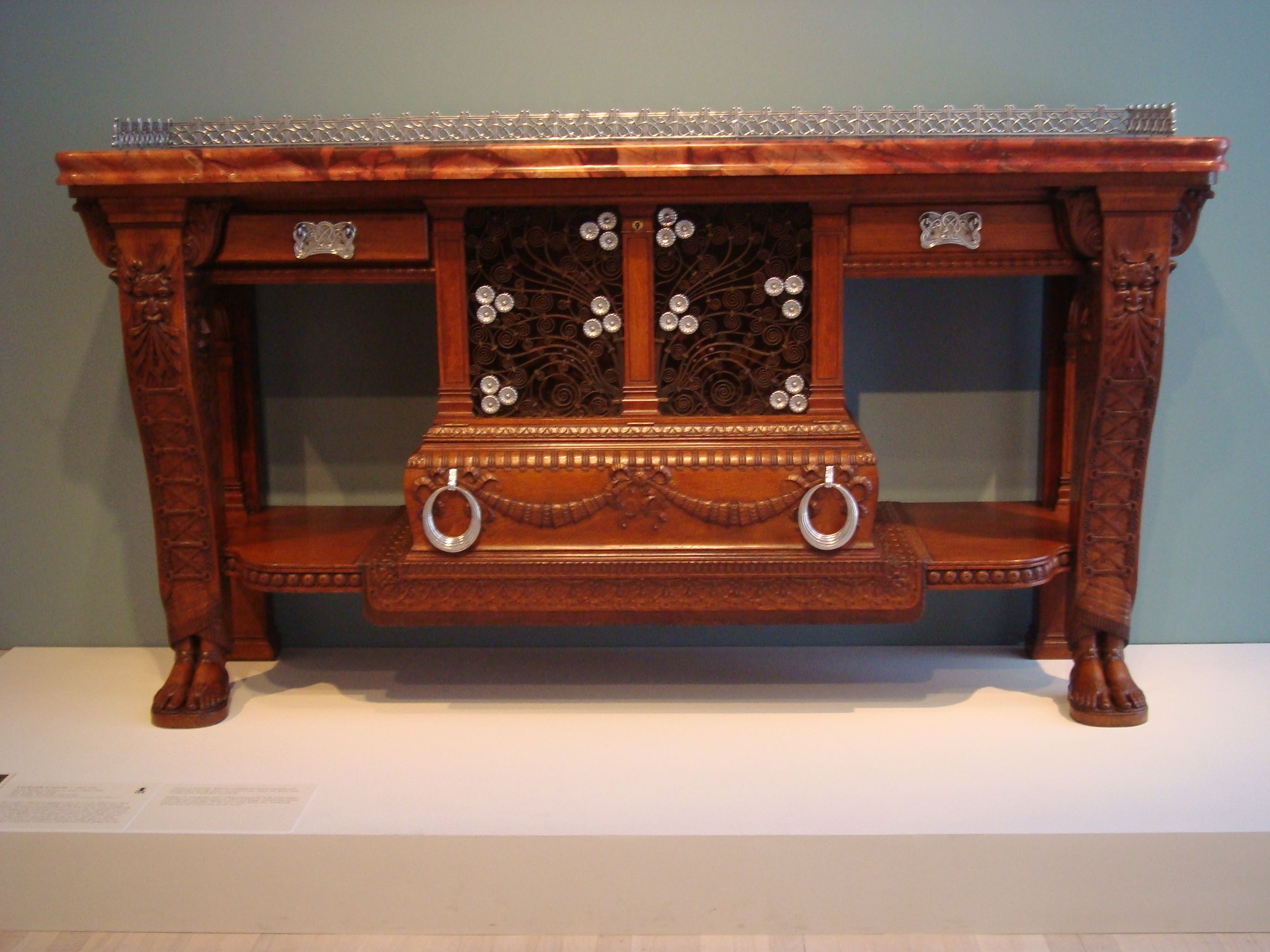Library Table Herter Brothers Furniture Pinterest