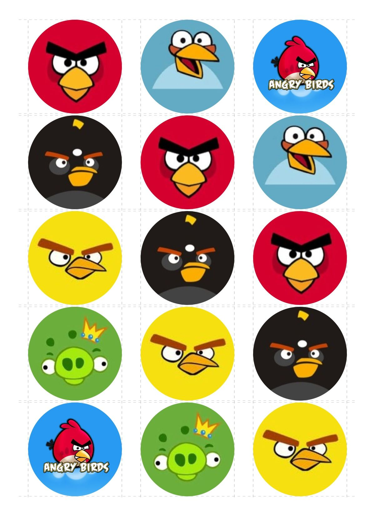 Angry birds edible cupcake images Cupcake Toppers - Sweet Creations