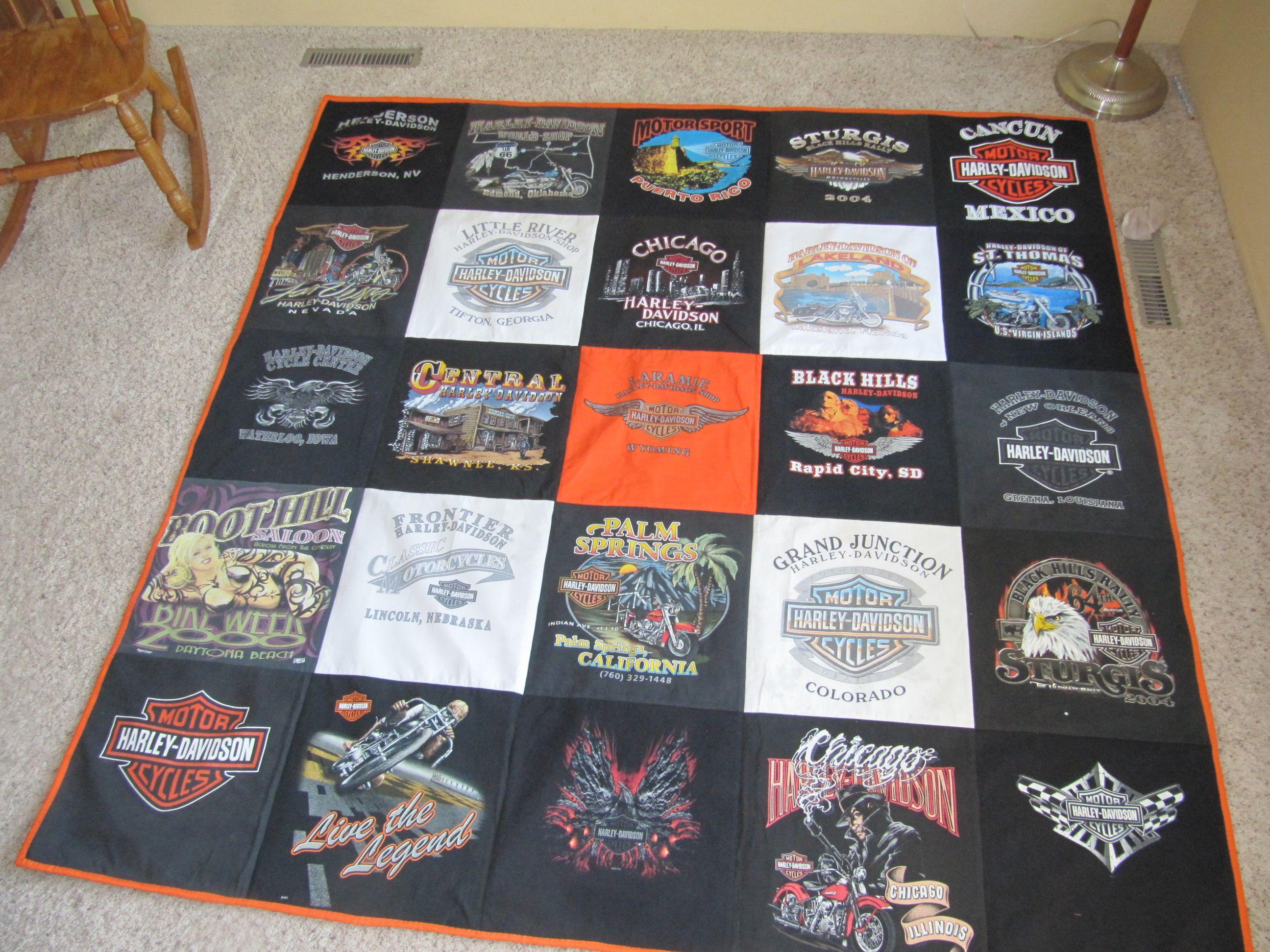 Harley T-shirt quilt! T-Shirt Quilt Ideas Pinterest