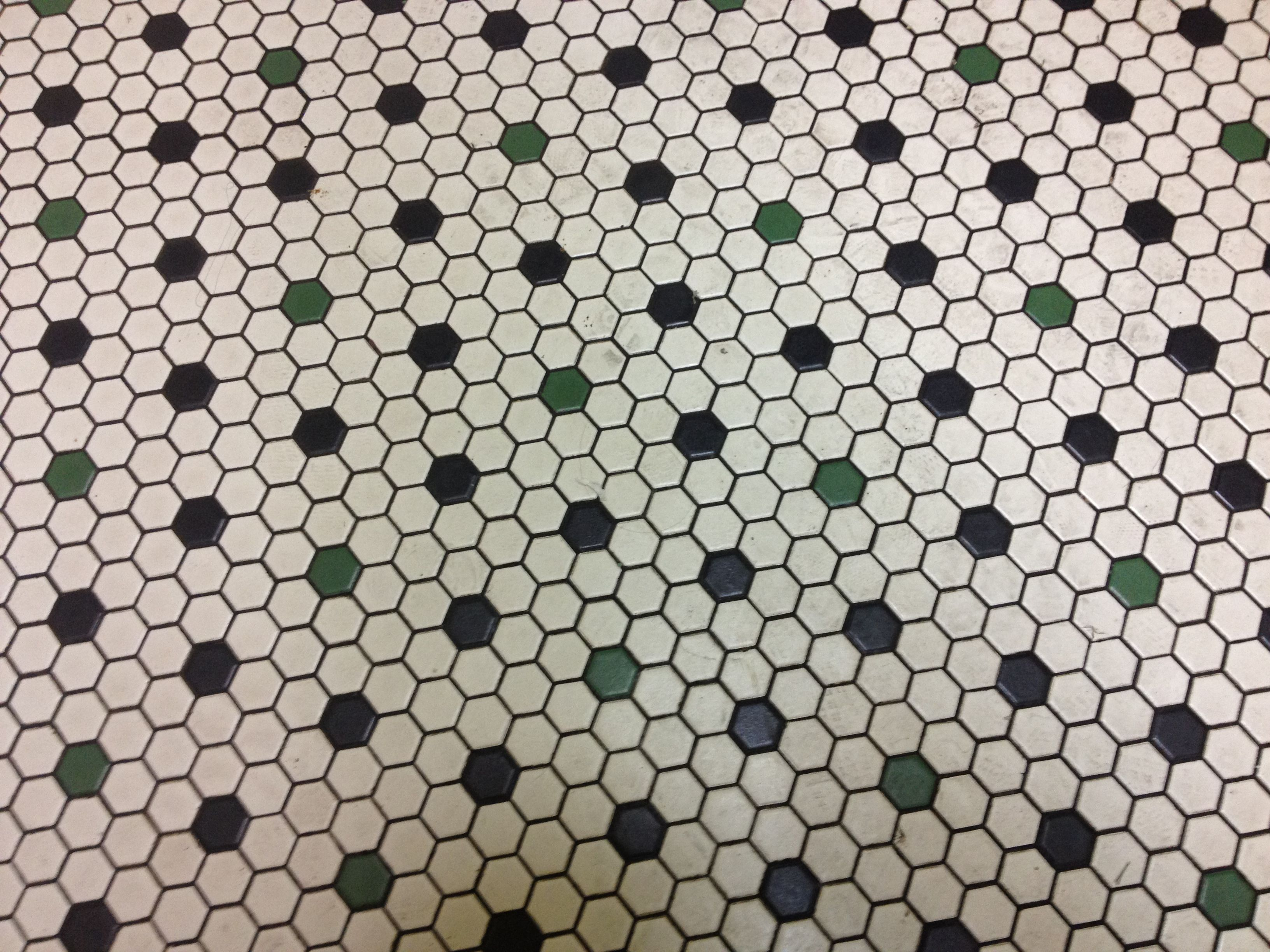 Hex tile flooring