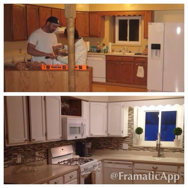 Kitchen remodel on a budget for the home pinterest for Remodeled kitchens on a budget