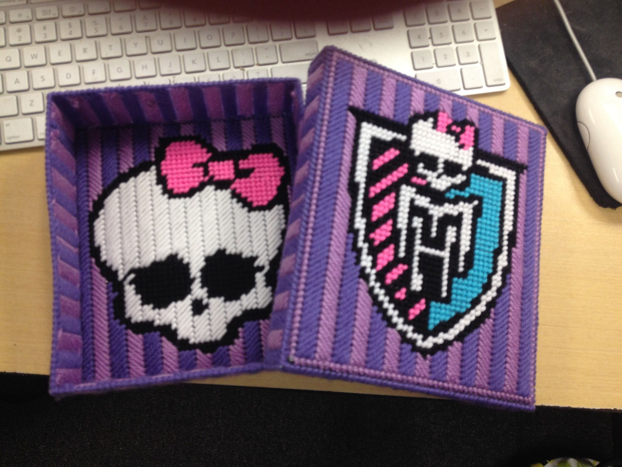 Monster high box made by my pattern | Plastic Canvas Crafts | Pintere ...