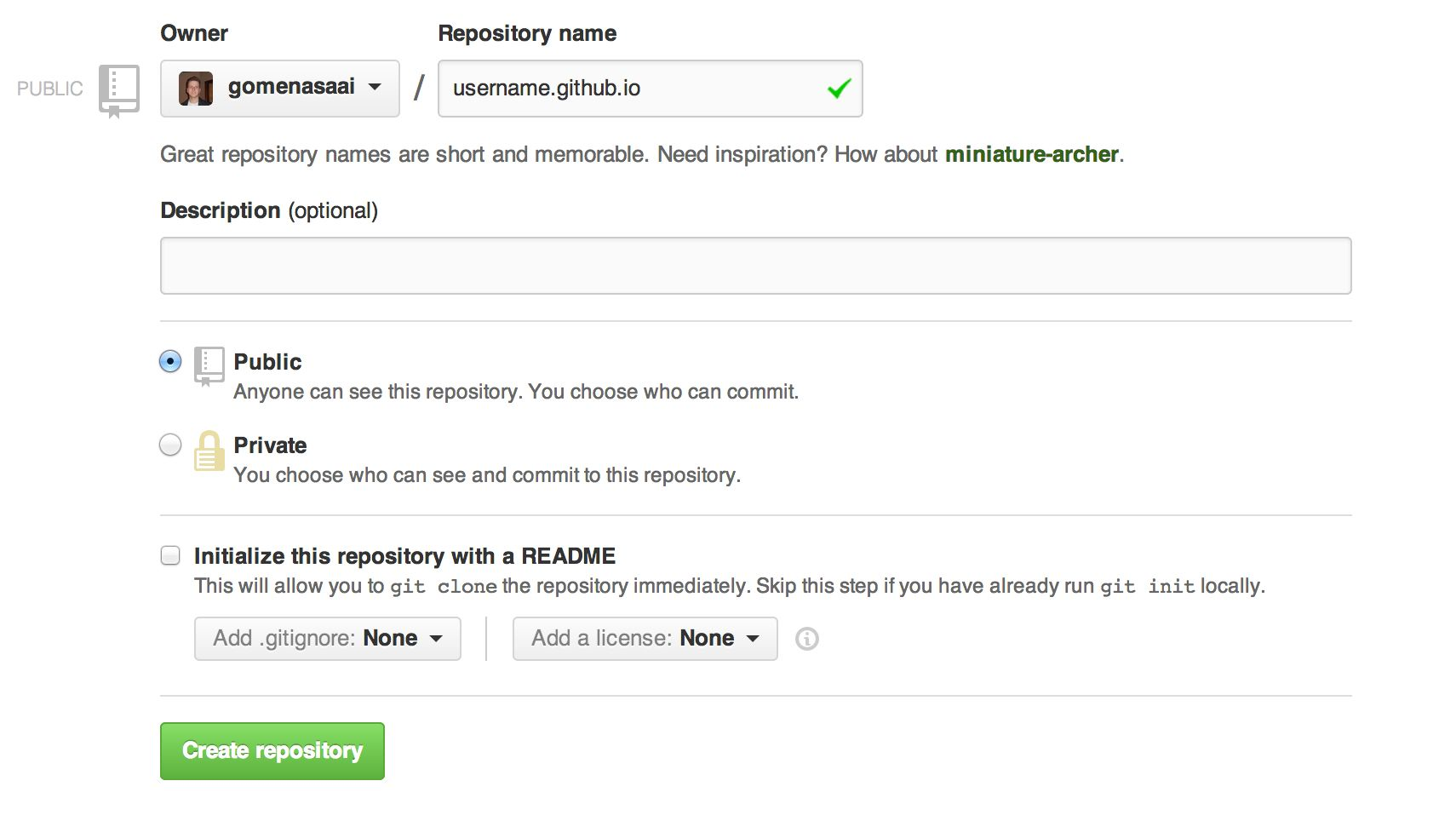 Creating new github repository