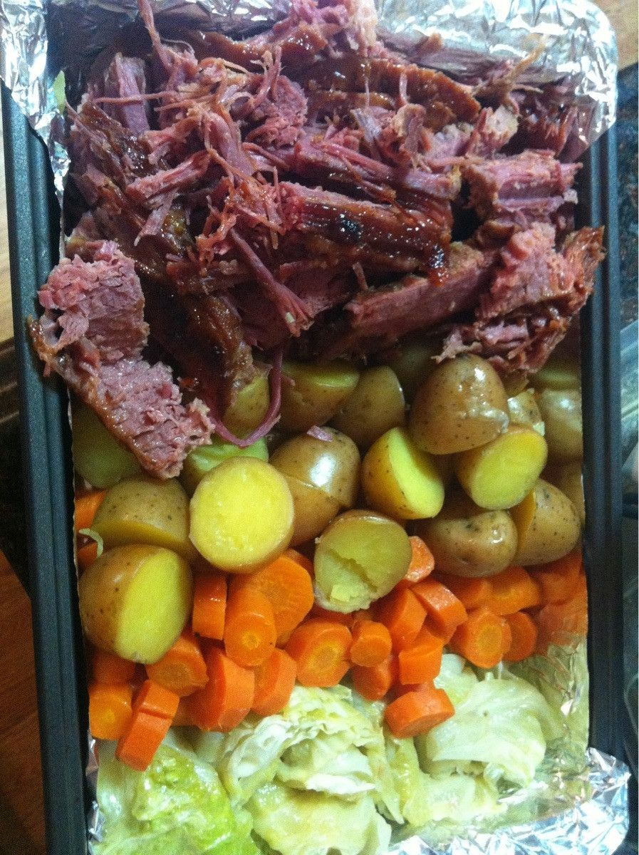 Apricot Glazed Corned Beef With Sauteed Cabbage And Colcannon Recipes ...