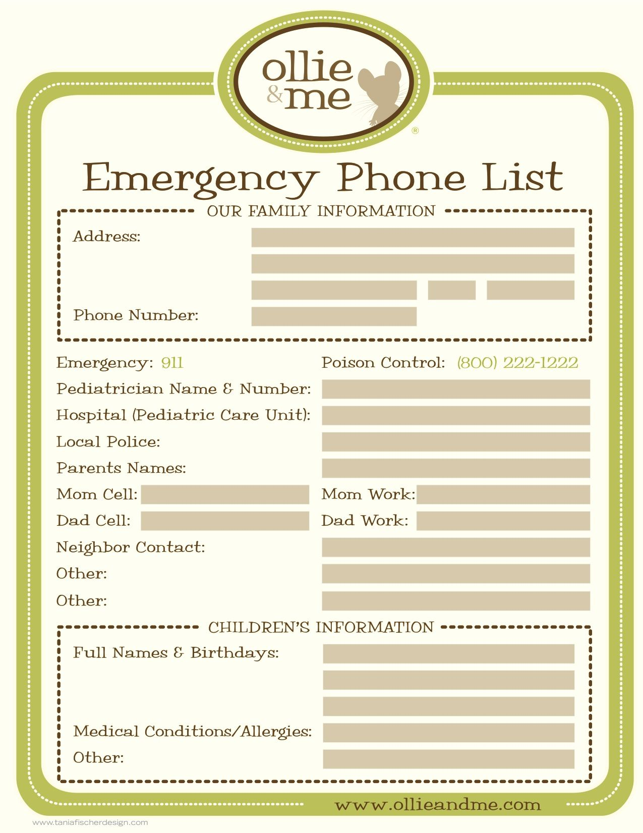 suggestions online images of emergency phone numbers list emergency phone list for your babysitter kid stuff