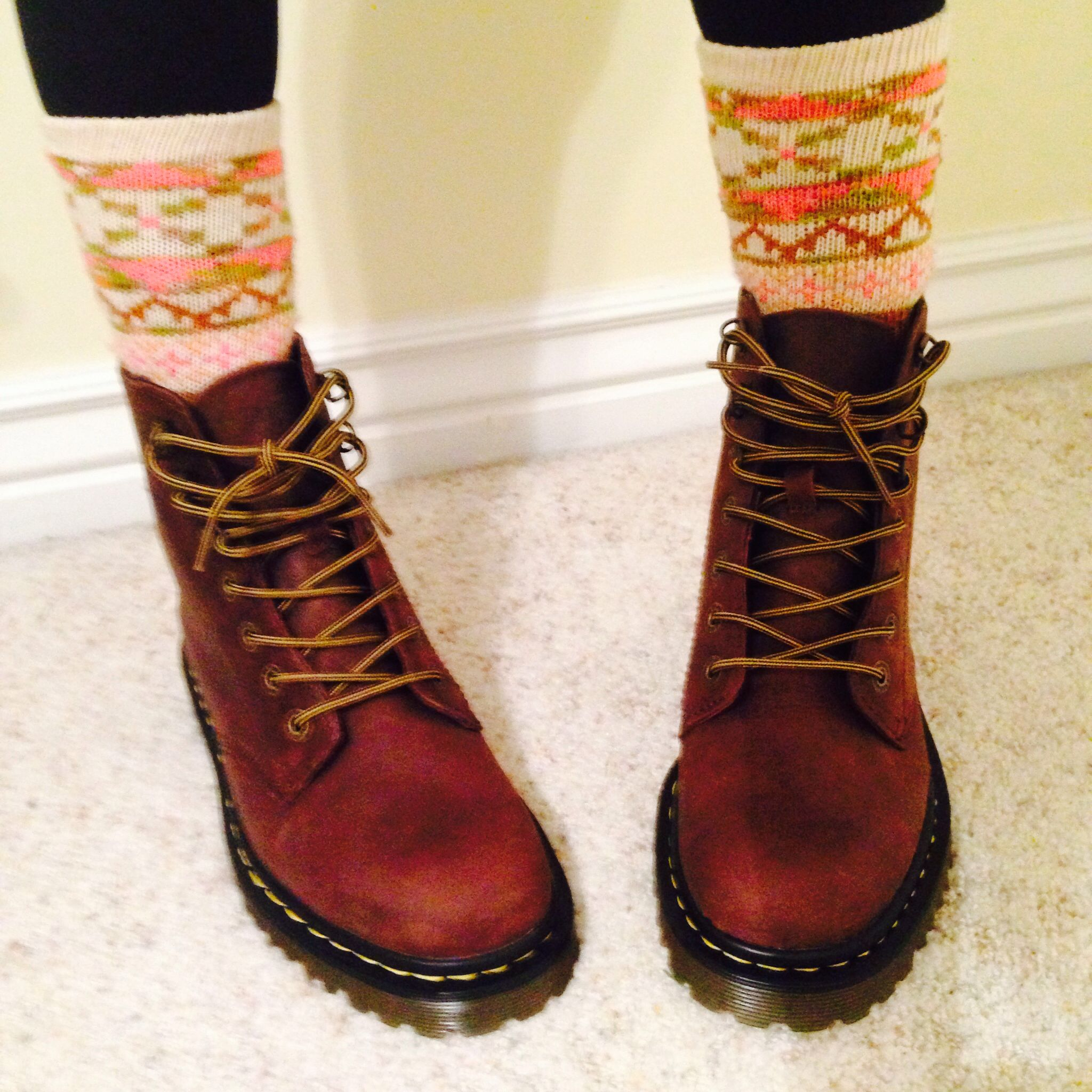 brown doc martens boots my style