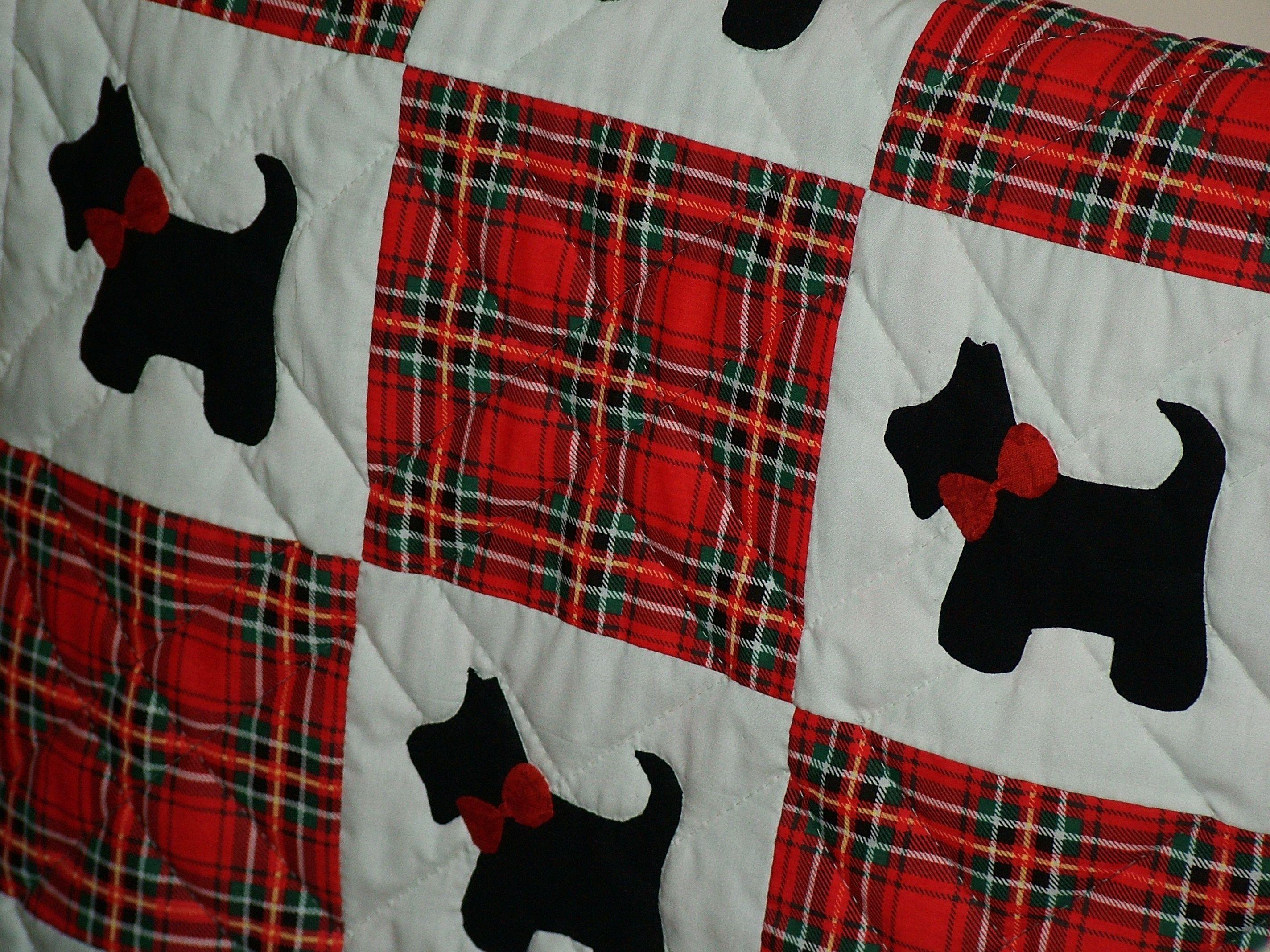 Quilt Pattern For Scottie Dog : scottie dog baby quilt Scotties to Make Pinterest