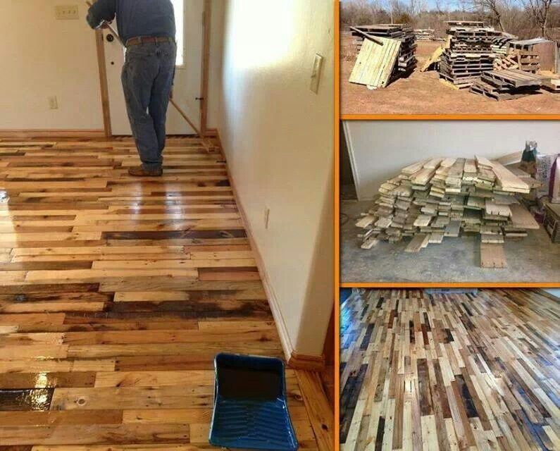 DIY Wood Pallet Floor