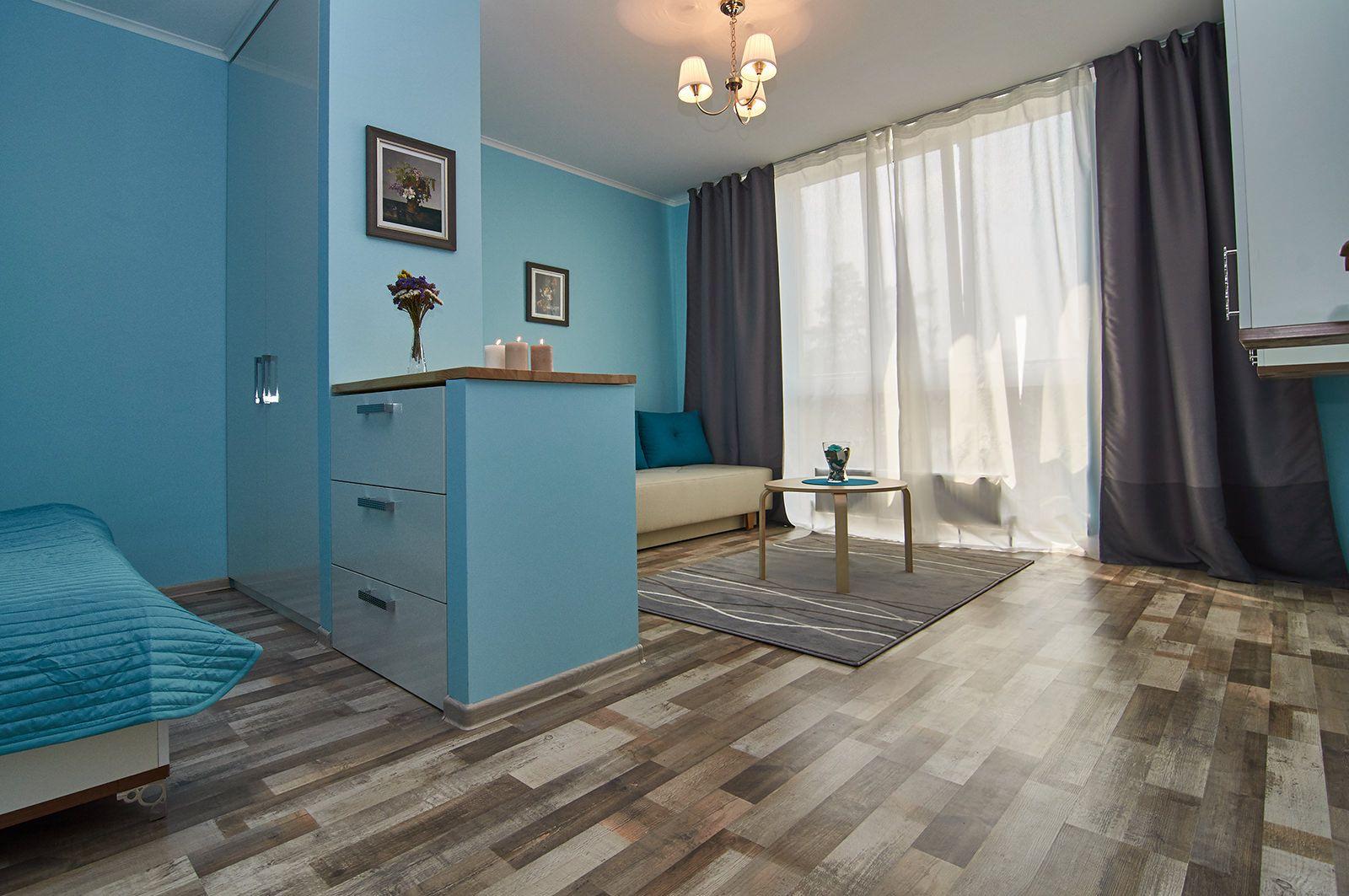 Дизайн квартир в голубых тонах