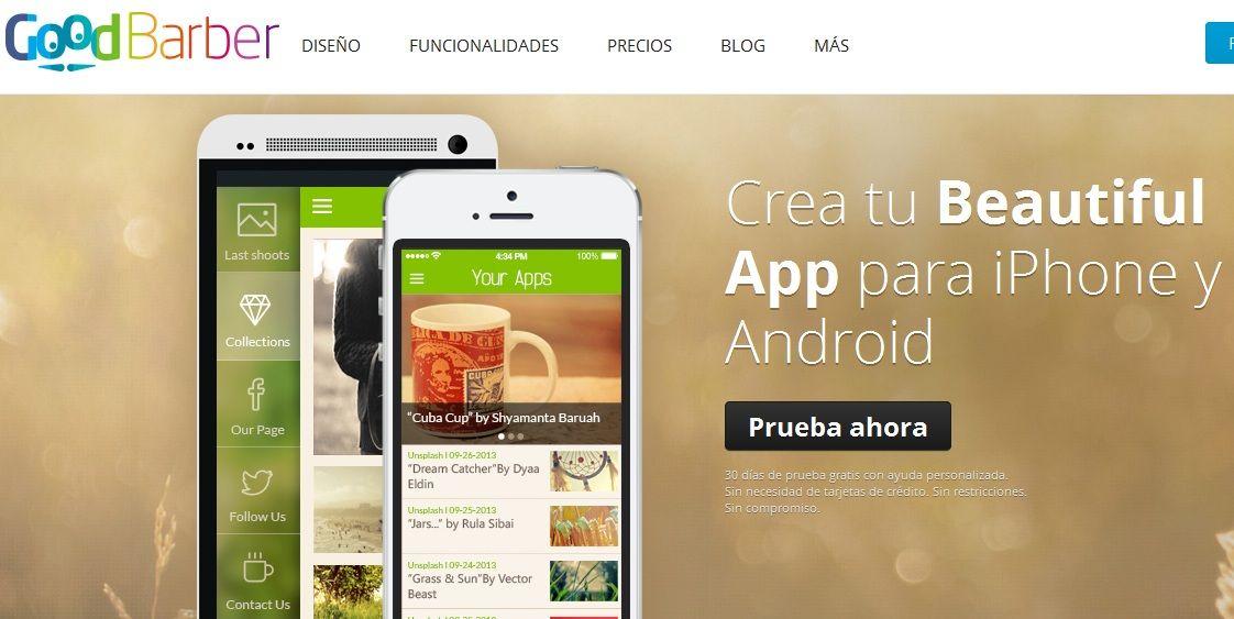 Goodbarber crea aplicaciones ios android o html5 sin for Aplicacion para disenar cocinas