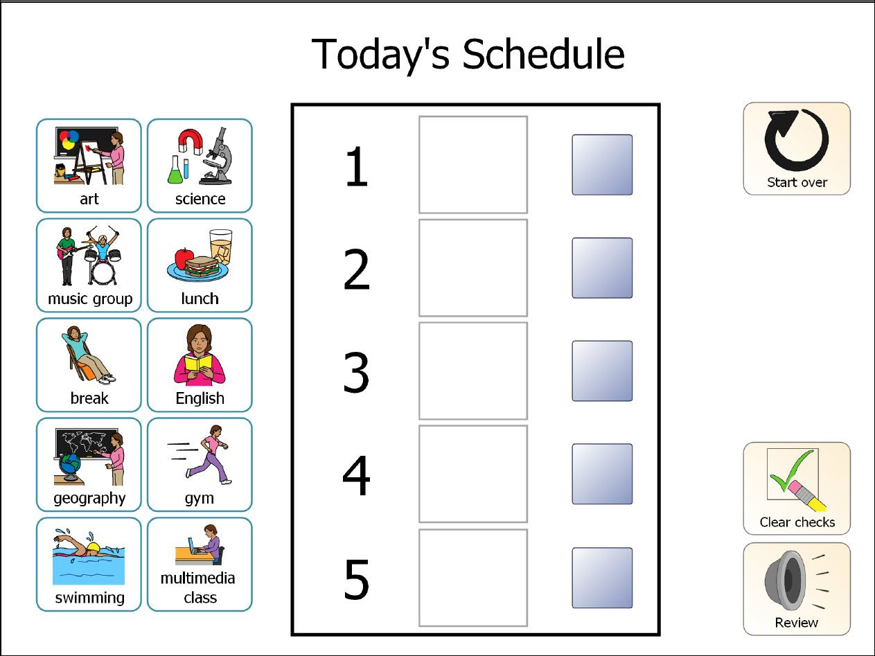Autism Daily Schedule PECS Book with over 200 by adapted4autism ...