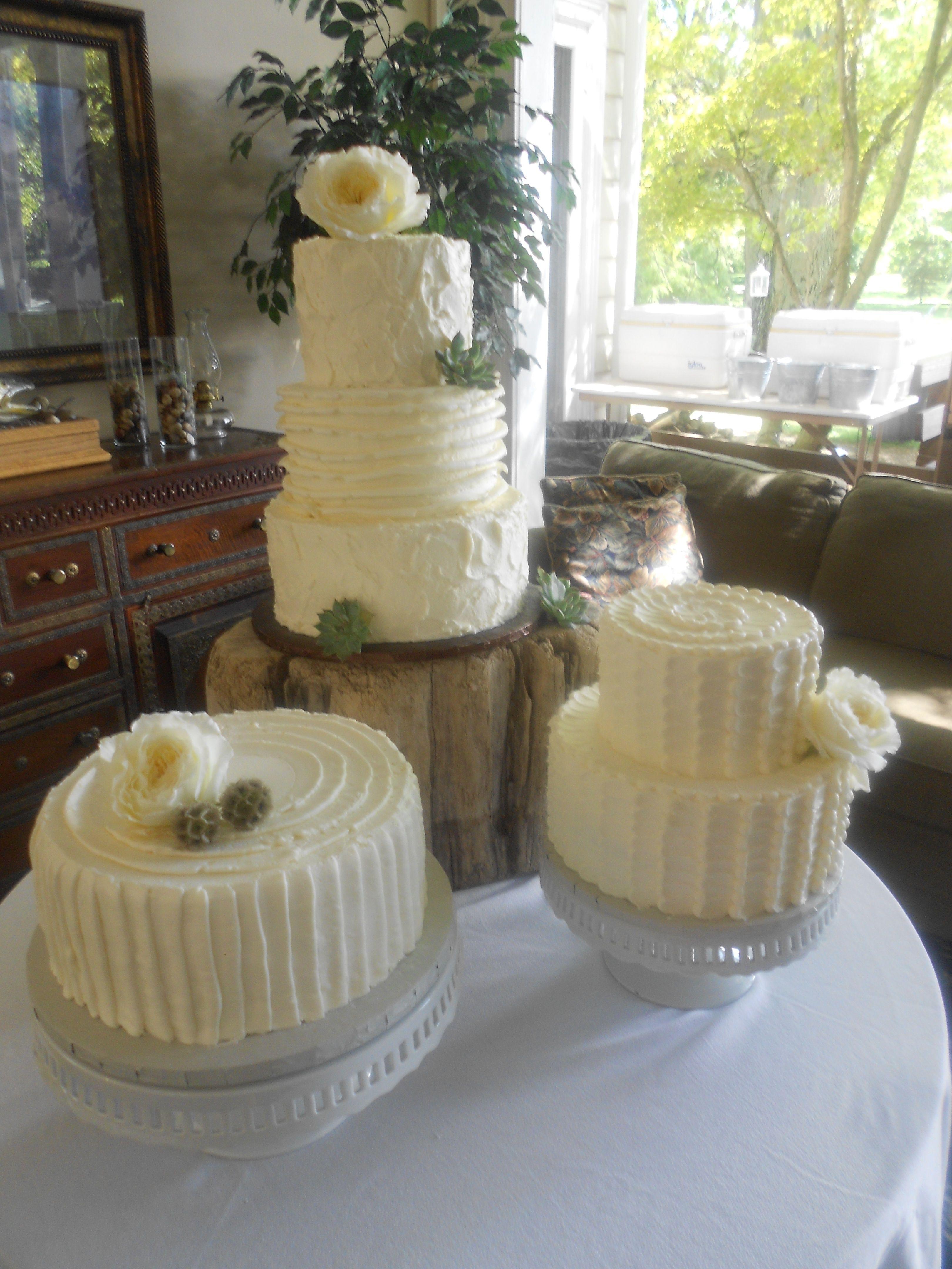 Rustic wedding cake table Cake inspiration