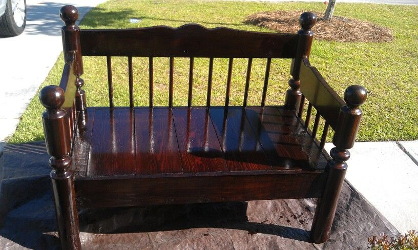 Bench Made From Headboard And Footboard Furniture Pinterest