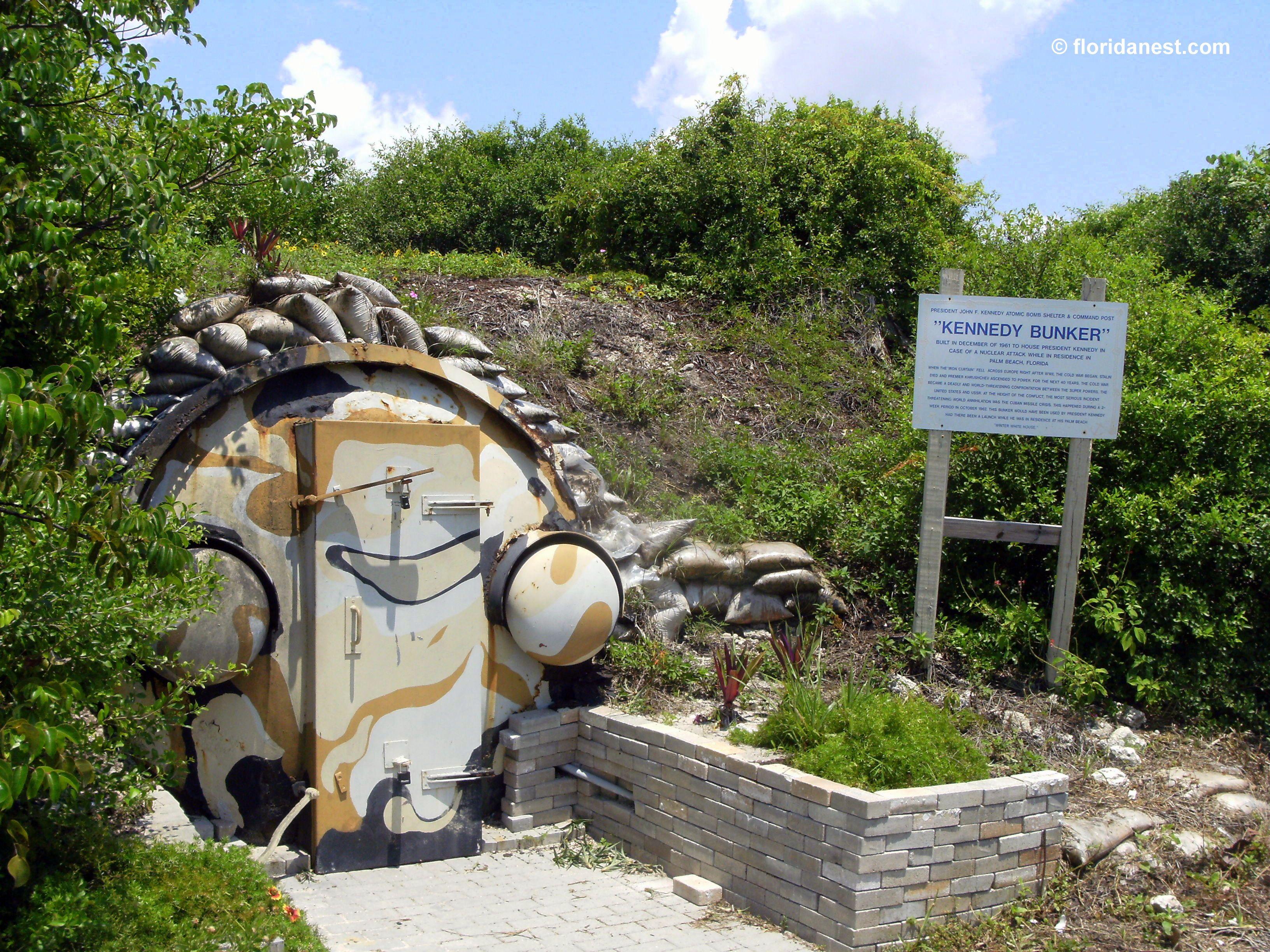 Backyard Sand Bunker :  by MarieLouise Verbeke on Peanut Island  Kennedy Bunker  Pinte