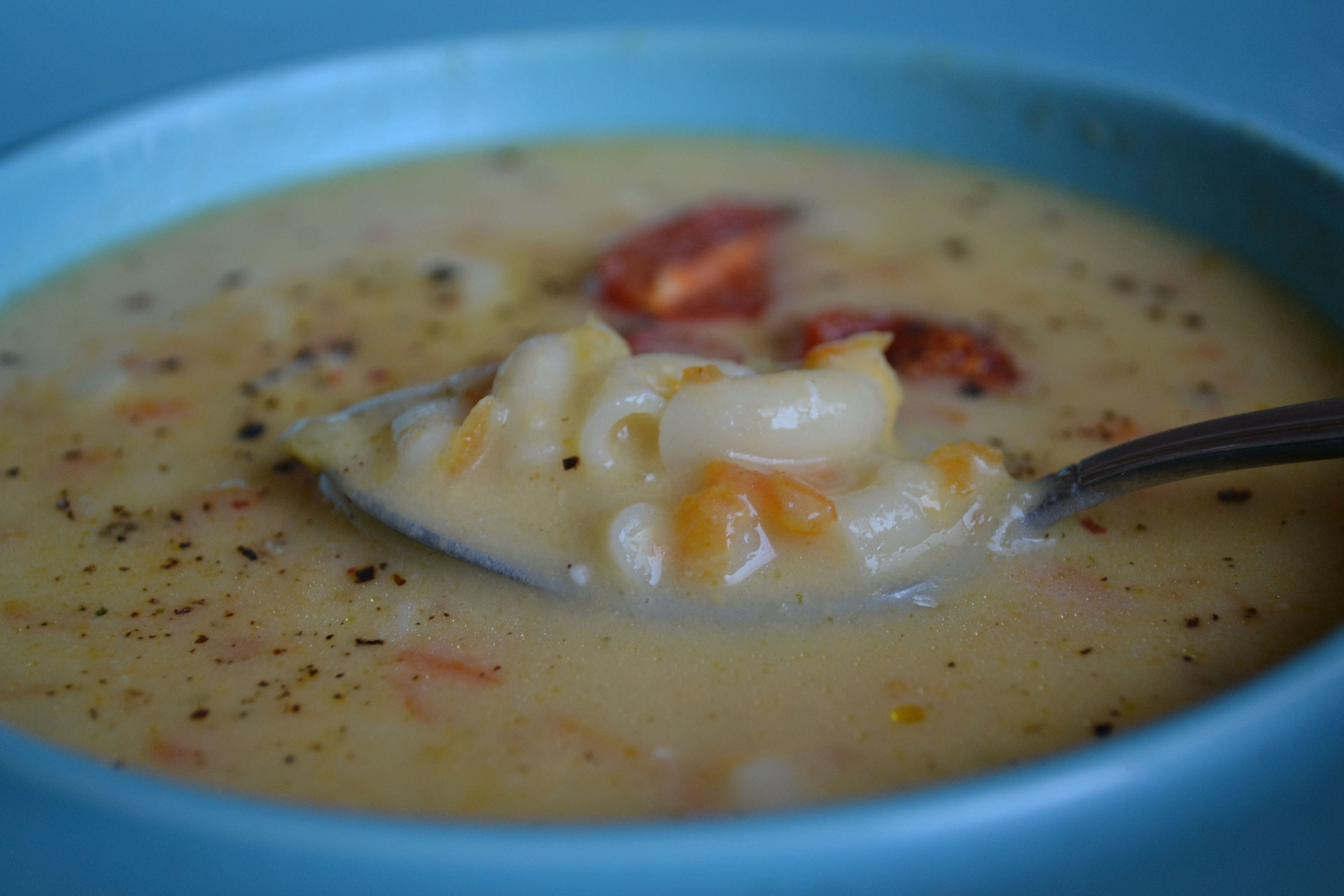 Mac and cheese soup. | Yummo | Pinterest
