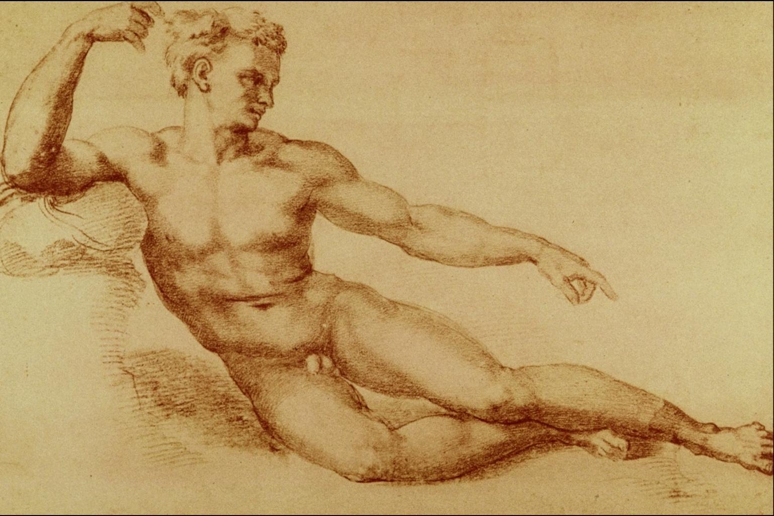 Рисуют голых мужиков 12 фотография