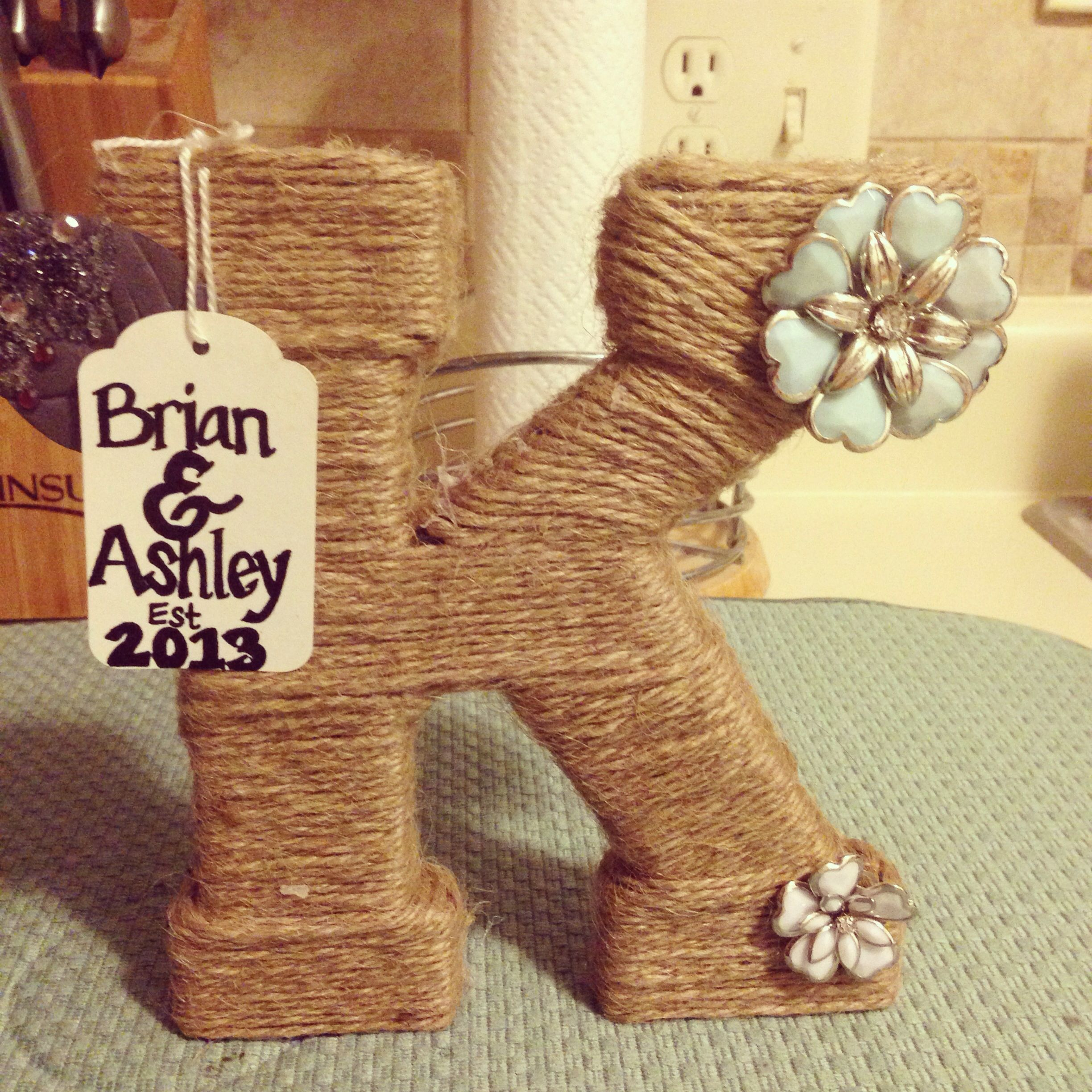 Wedding gift idea DIY Pinterest