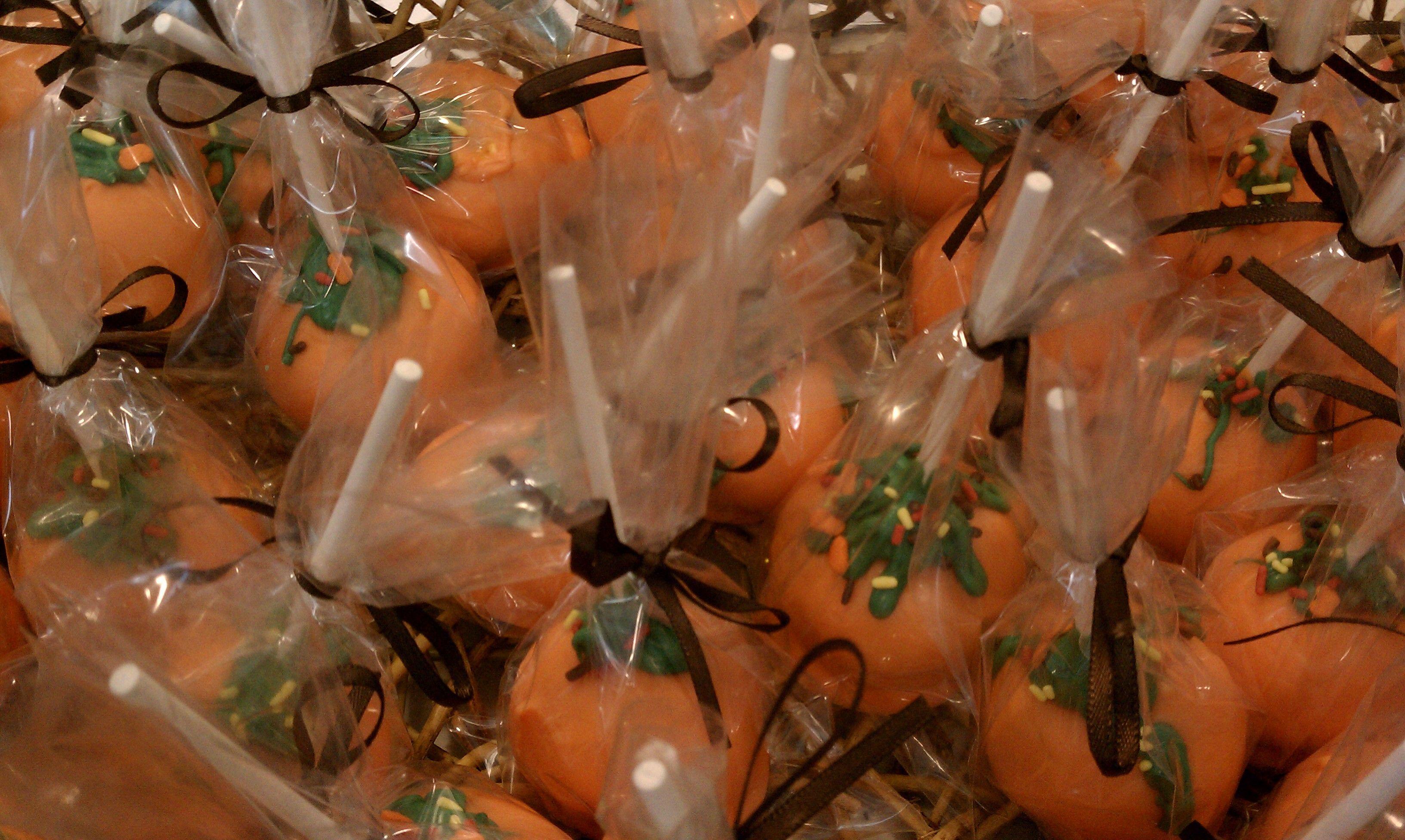 Pumpkin spice cake pops | Cake pops & balls | Pinterest