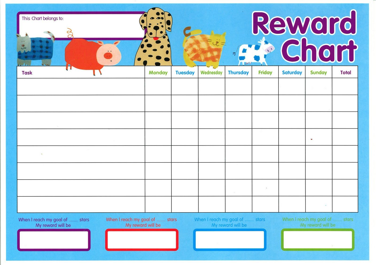 Reward Charts Template sample of a police report – Child Reward Chart Template