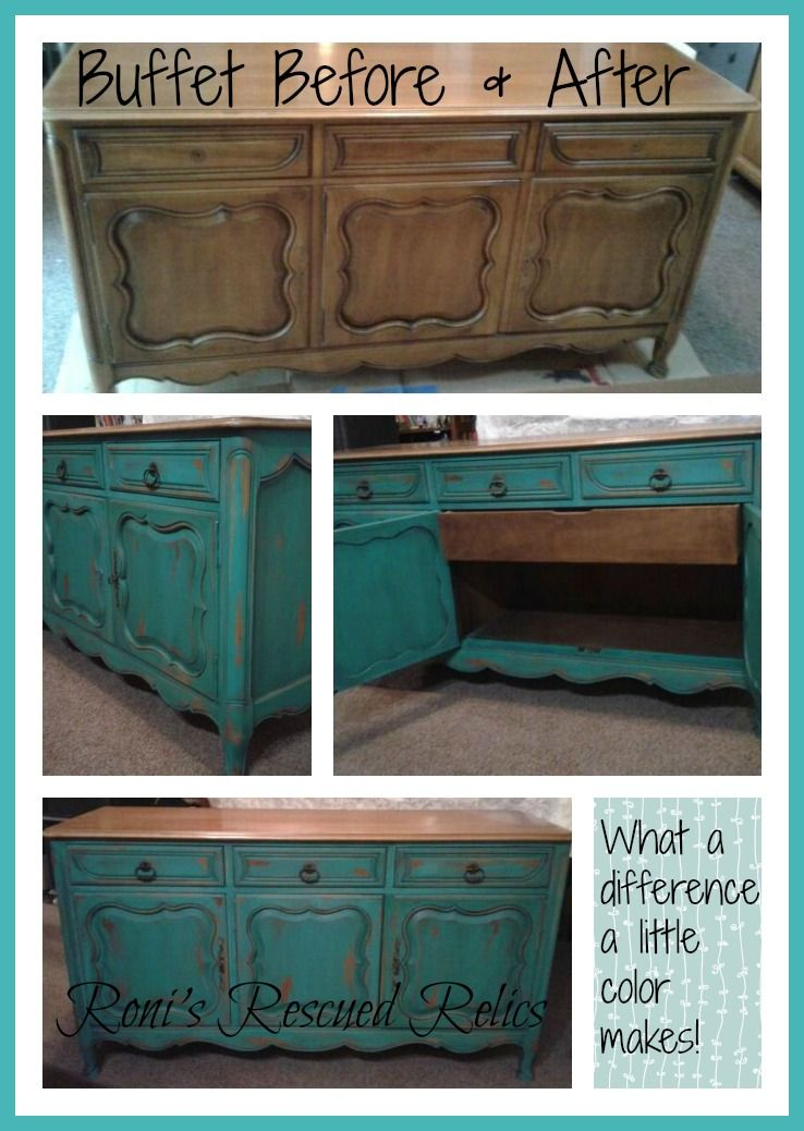 Distressed Turquoise Furniture Makeovers