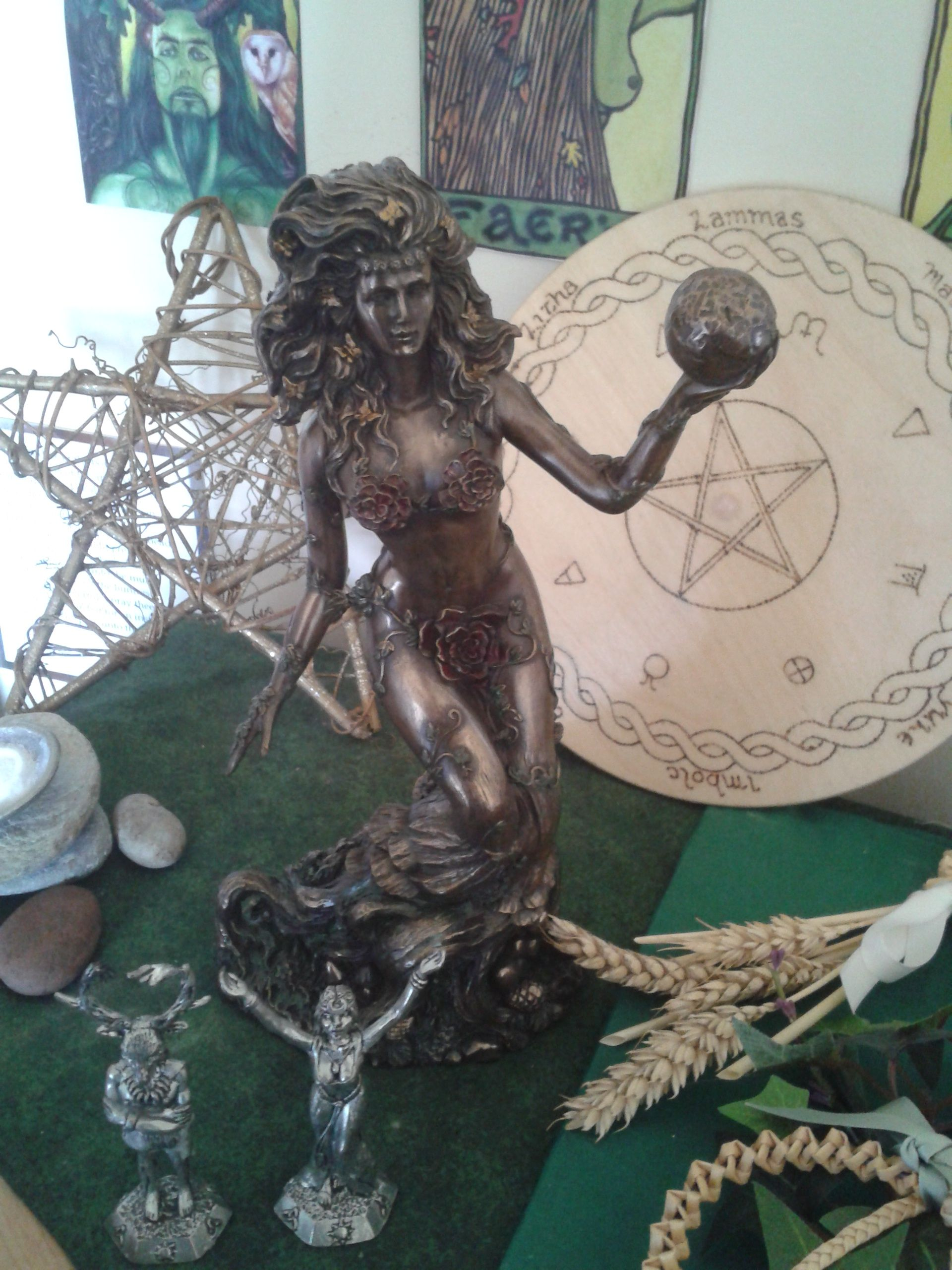 Gaia Statue Is A Of The Greek Goddess Personifying Earth