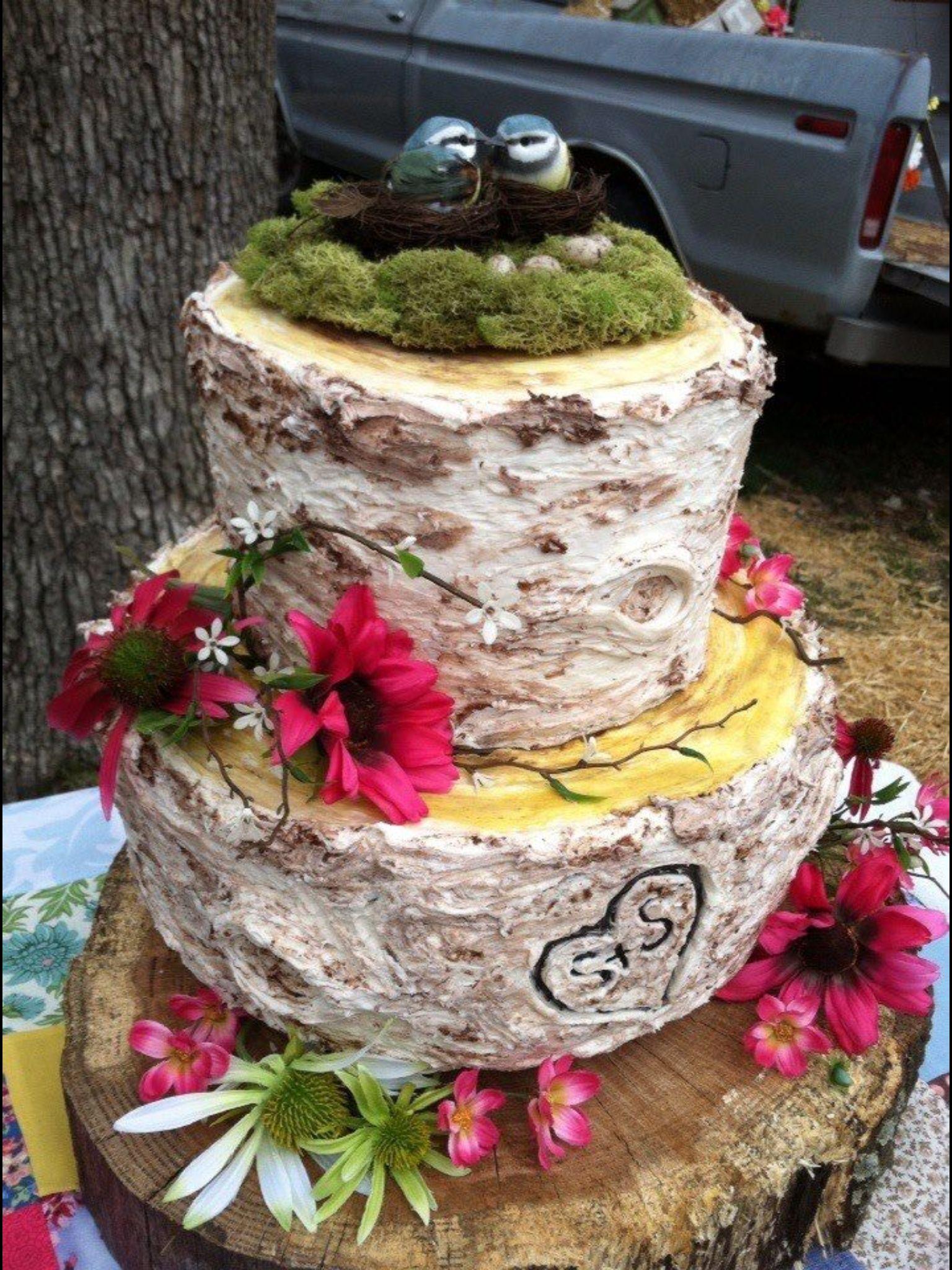 outdoor wedding cake beautiful food pinterest