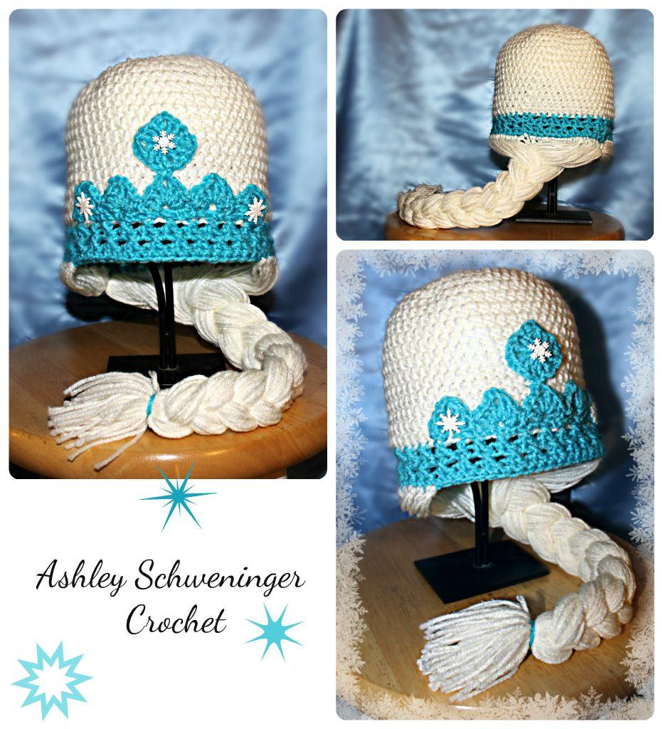 Free Crochet Hat Patterns From Frozen : Free Crochet Pattern Elsa Frozen Hat Party Invitations Ideas