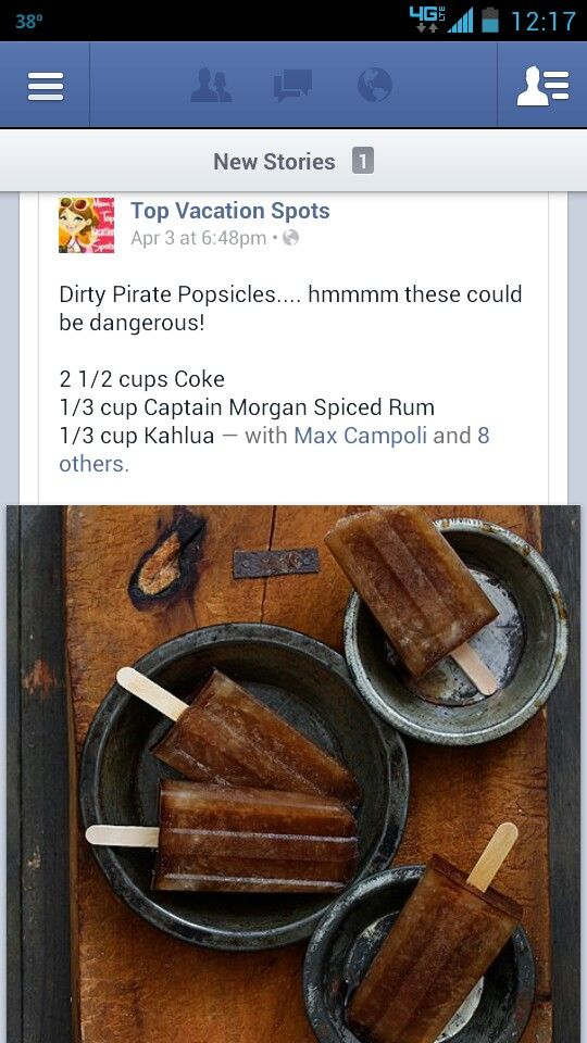 Dirty Pirate Popsicles   Food   Pinterest