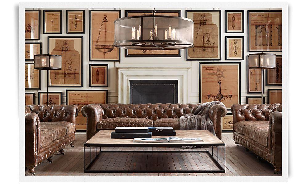 restoration hardware living room home pinterest