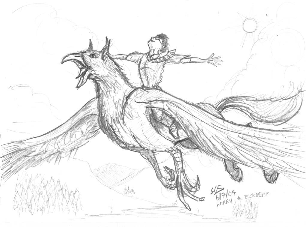 coloring pages buckbeak - photo#10