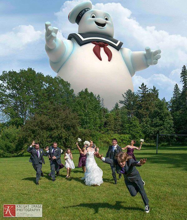 Los caza fantasmas invitados de lujo a esta boda