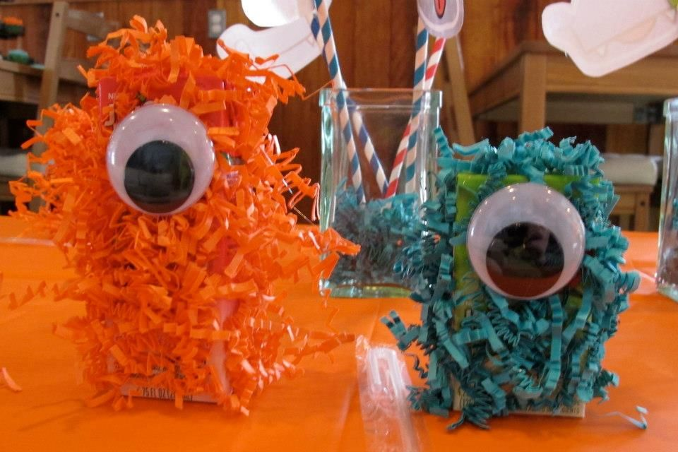 Monster juice boxes! | party | Pinterest
