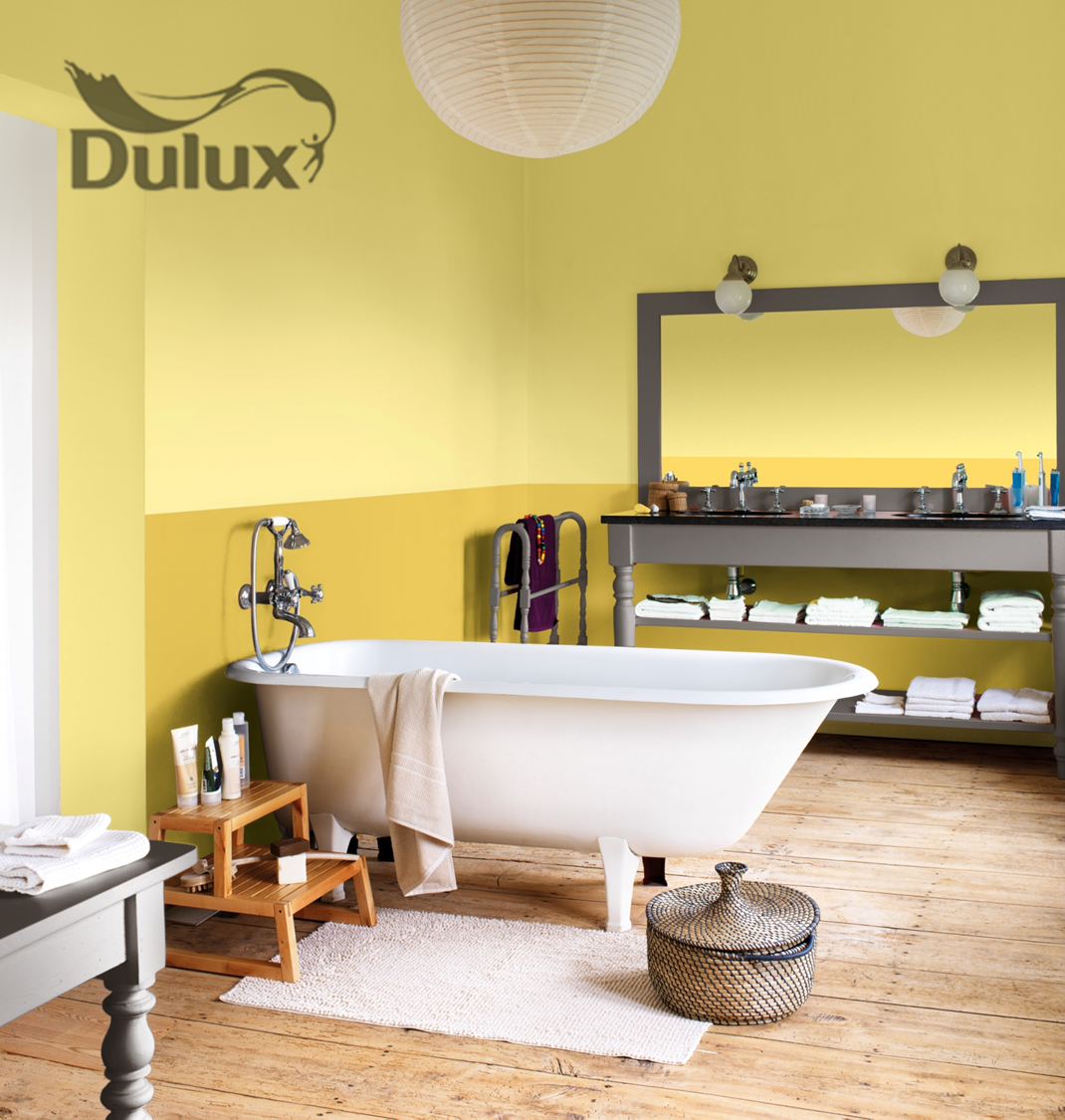 dulux colour yellow bathroom golds and yellows