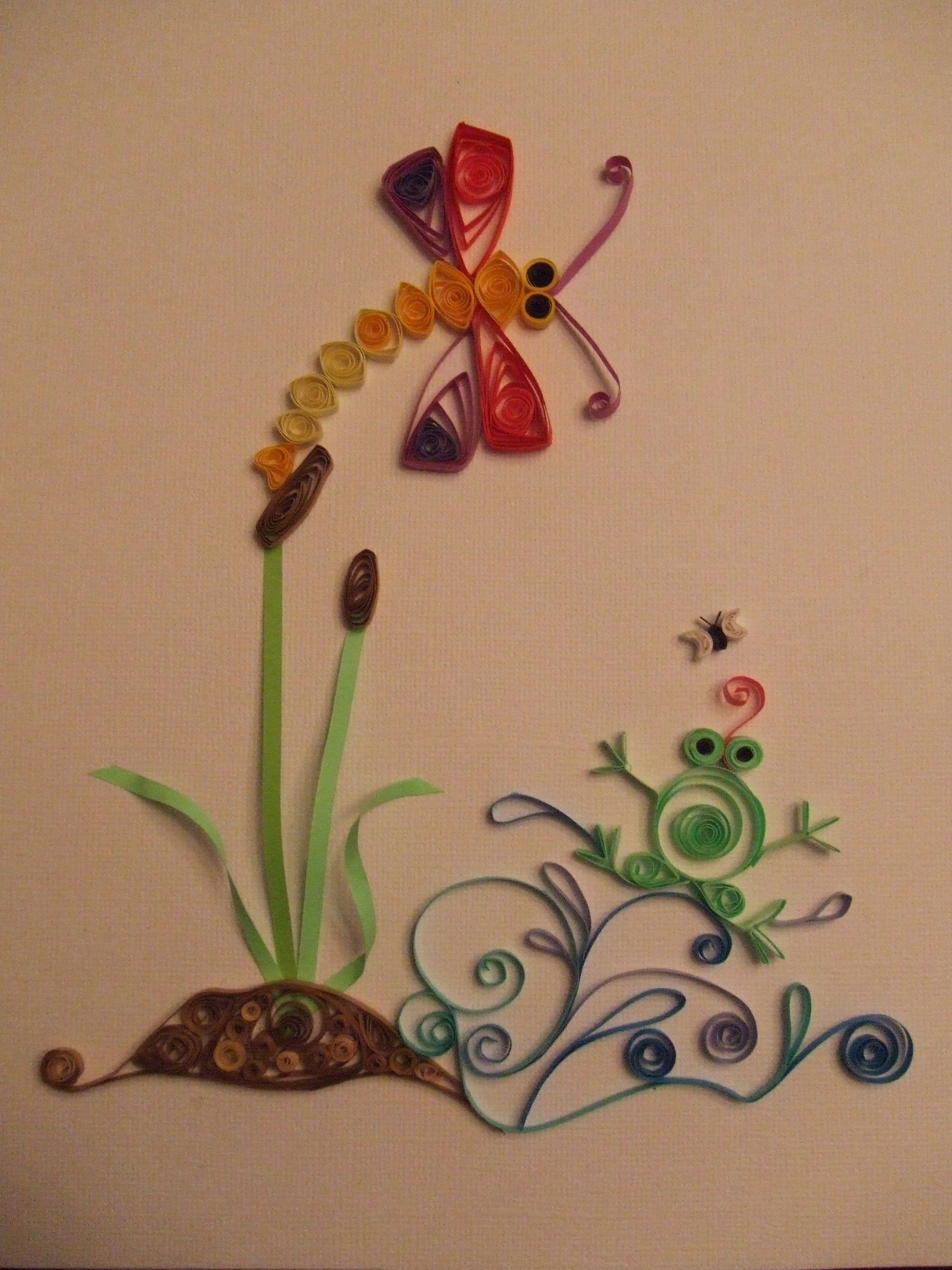 My first quilling project paper art quilling pinterest for Paper quilling art projects