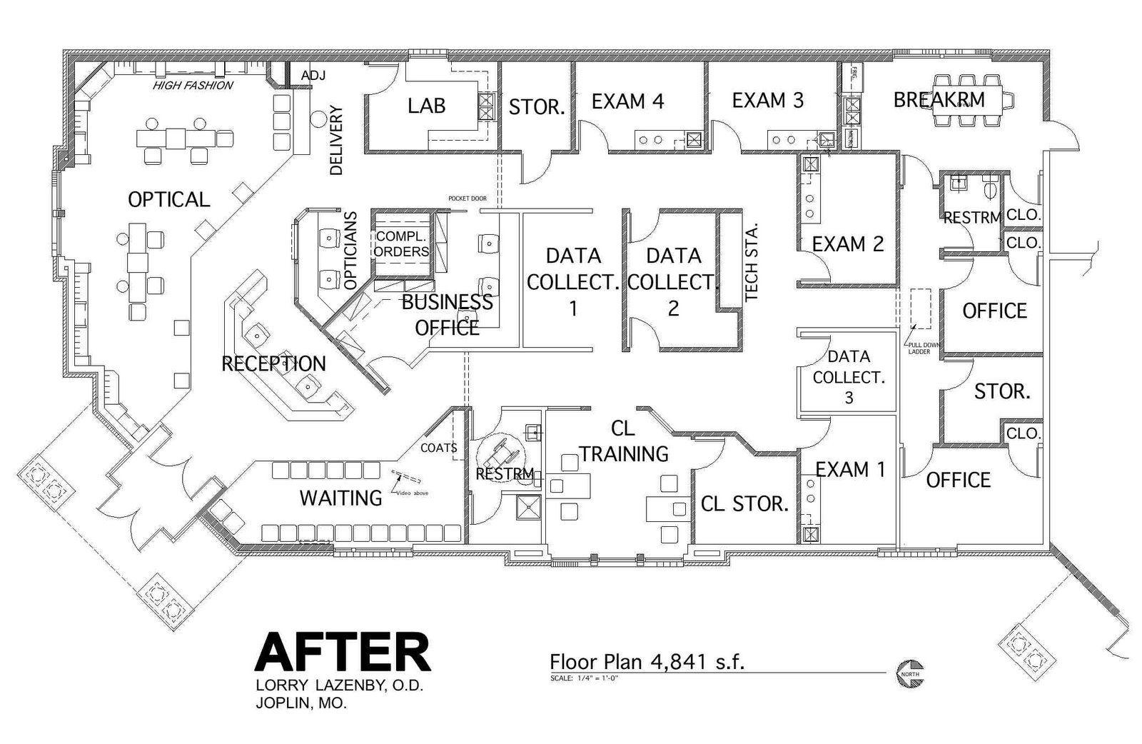 Practice floor plan optometry pinterest for Office layout design